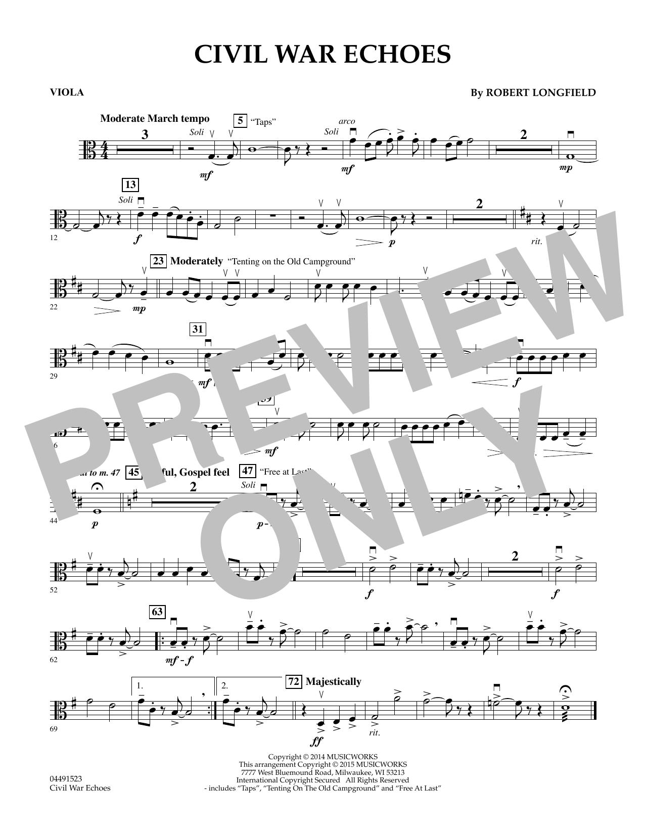 Civil War Echoes - Viola (Orchestra)