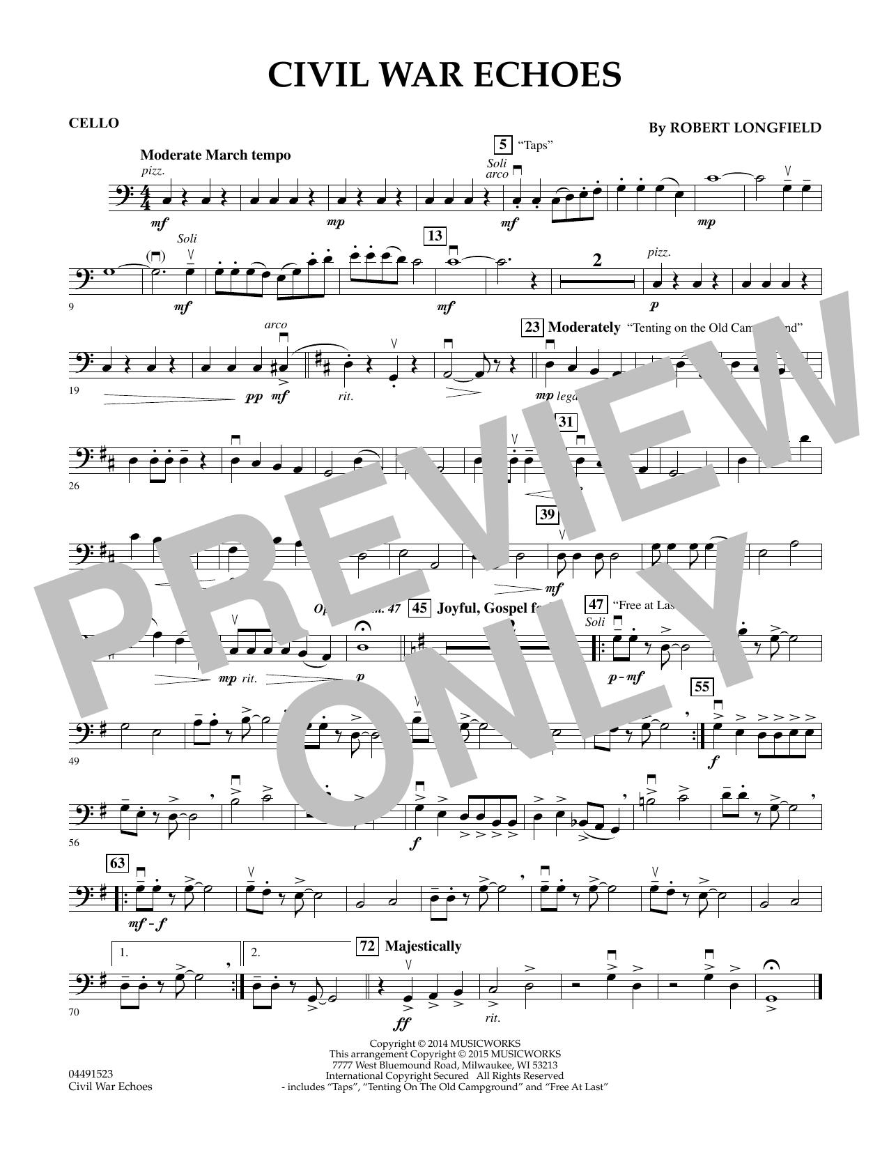 Civil War Echoes - Cello (Orchestra)