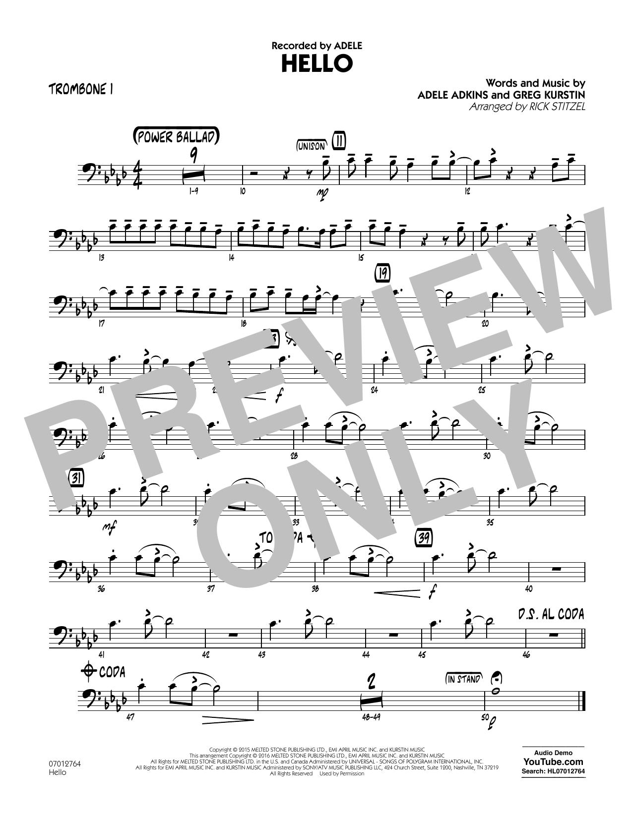 Hello - Trombone 1 (Jazz Ensemble)