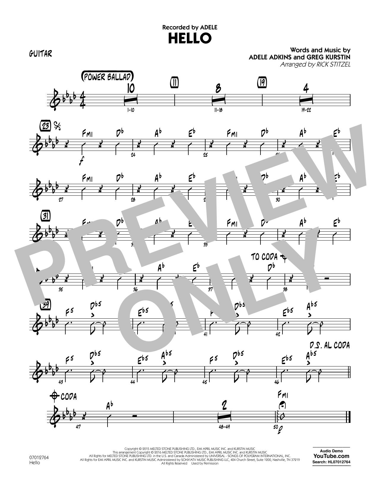 Hello - Guitar (Jazz Ensemble)
