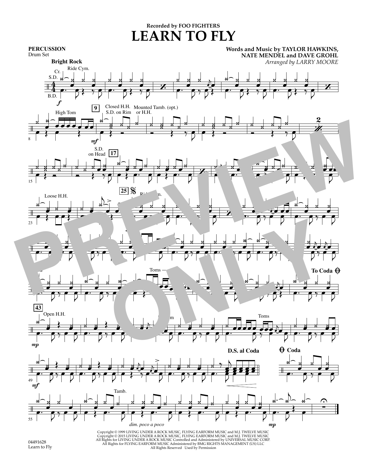 Learn to Fly - Percussion (Orchestra)