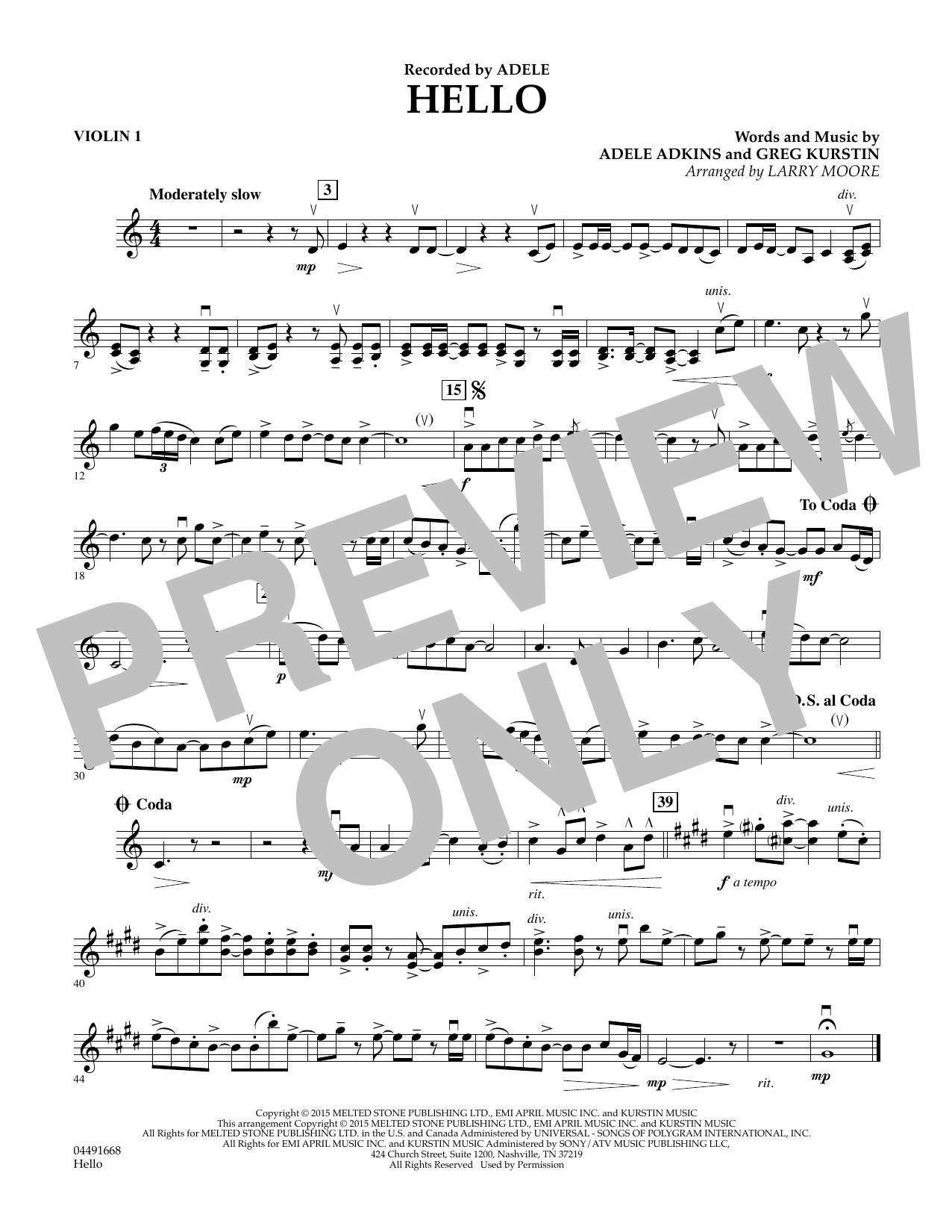 Hello - Violin 1 (Orchestra)