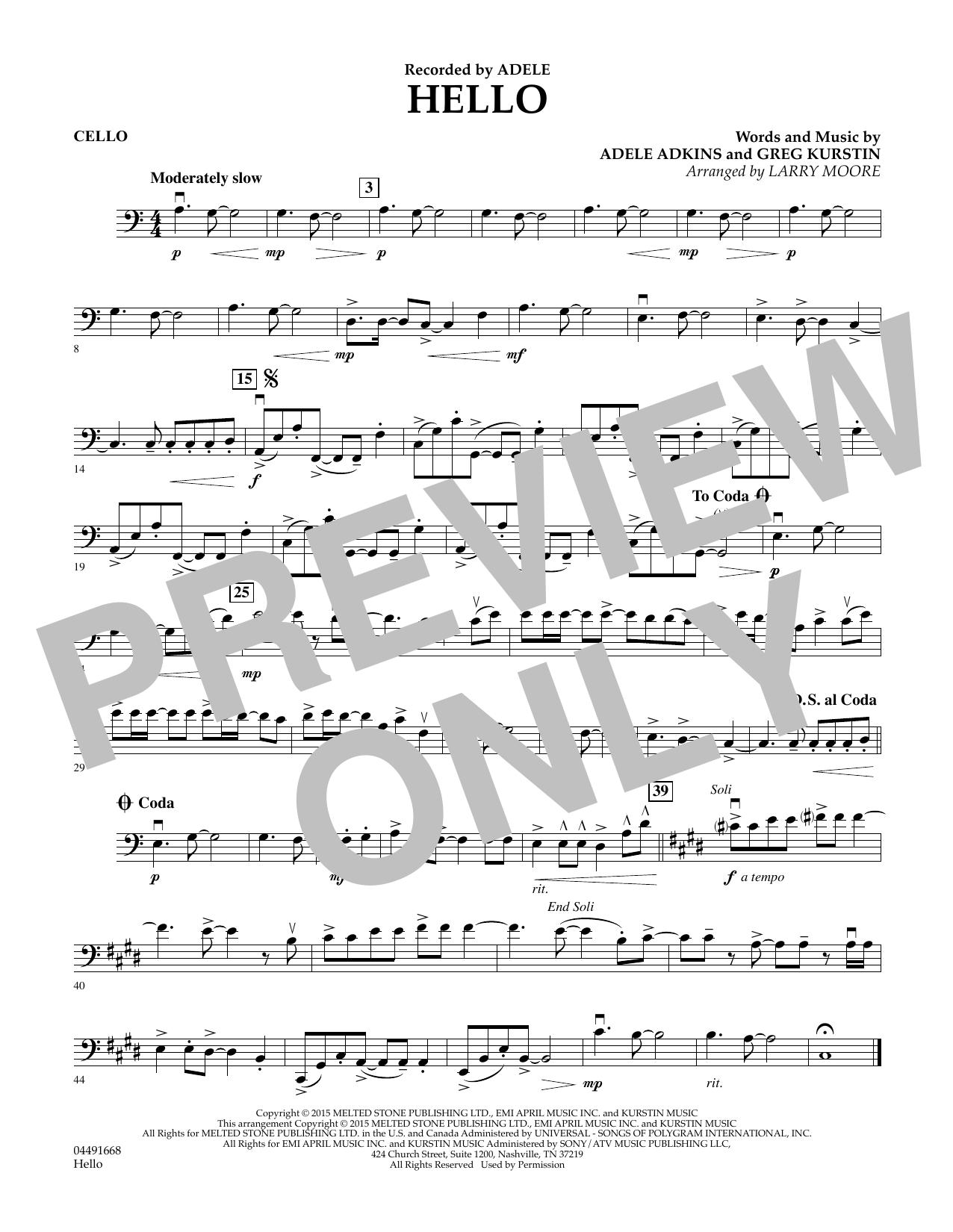 Hello - Cello (Orchestra)