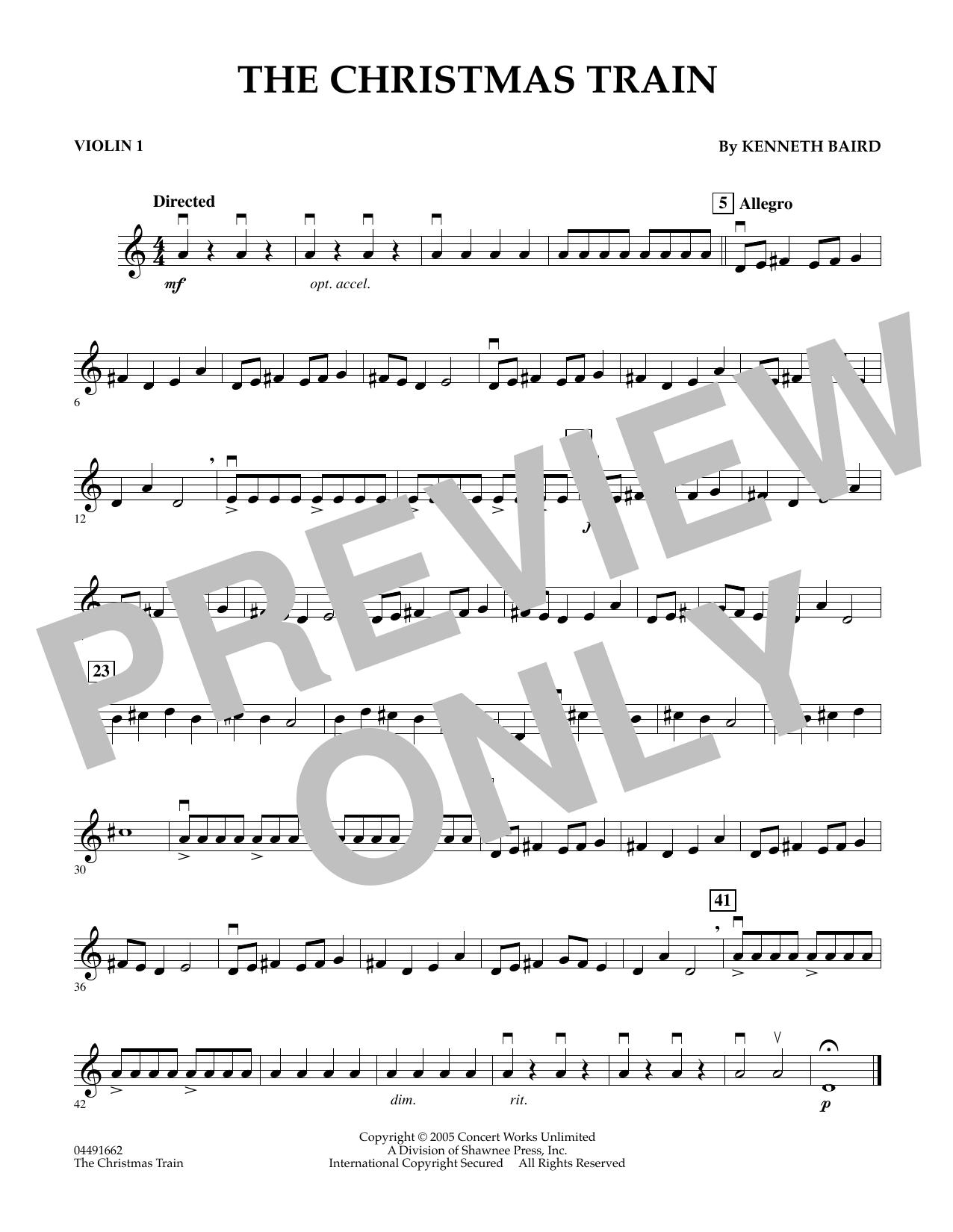 The Christmas Train - Violin 1 (Orchestra)