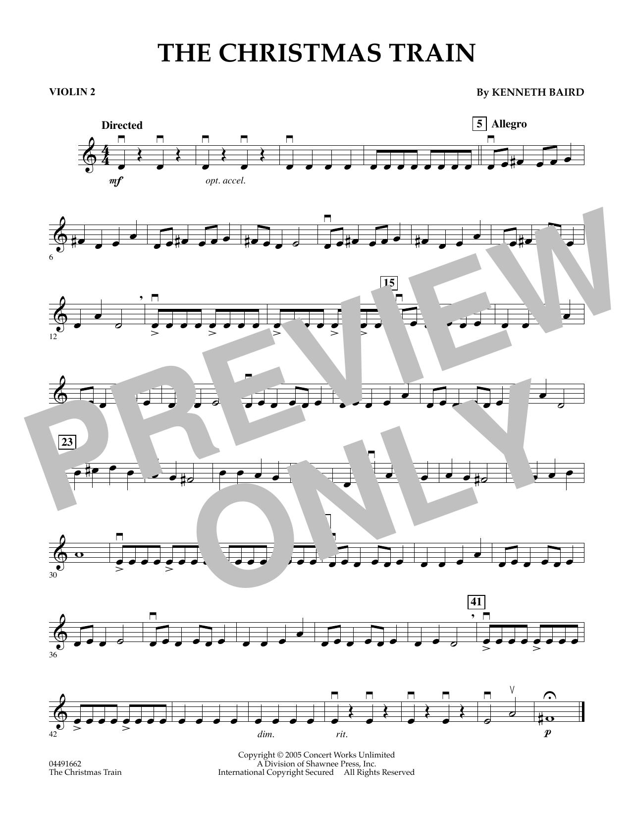 The Christmas Train - Violin 2 (Orchestra)