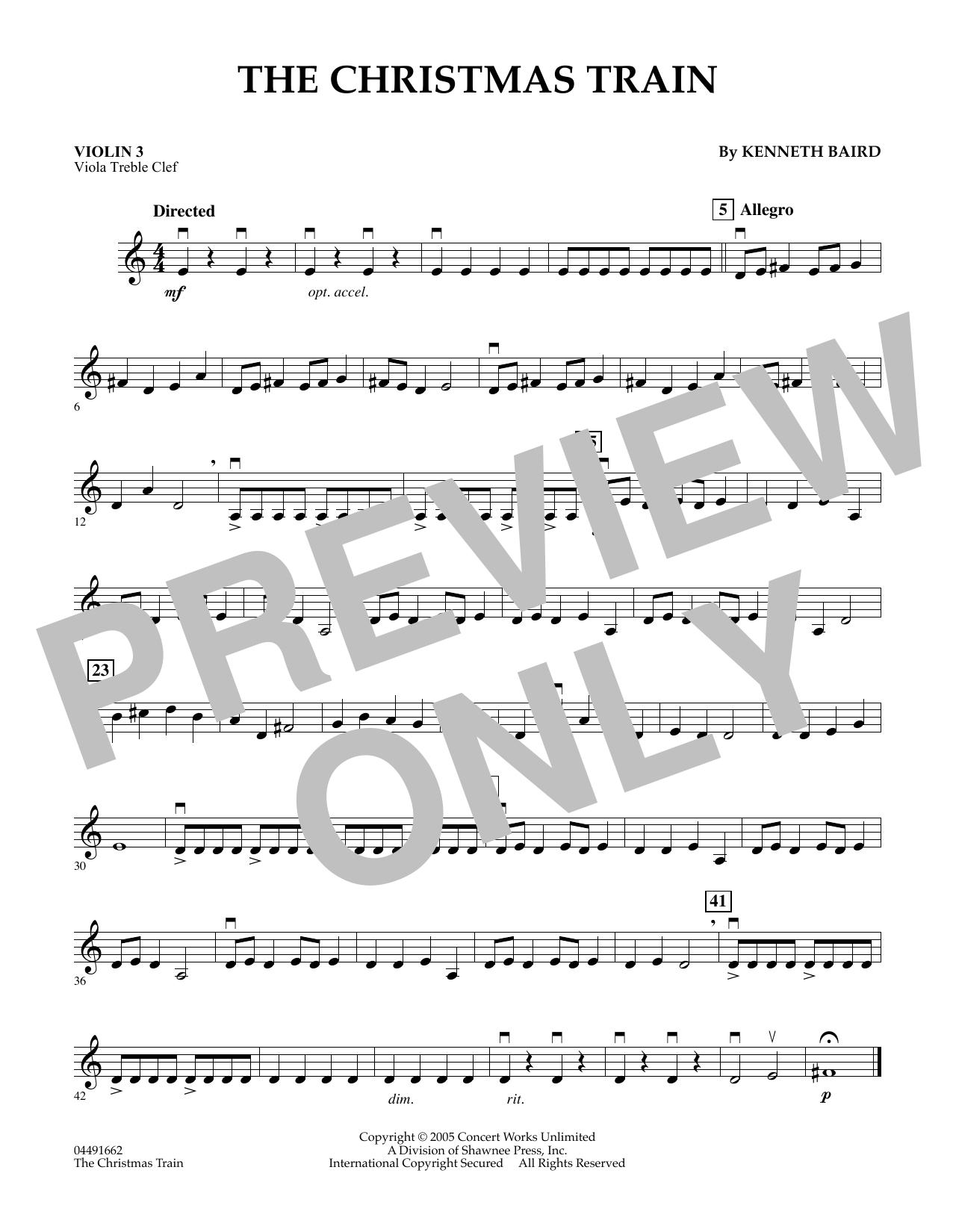 The Christmas Train - Violin 3 (Viola Treble Clef) (Orchestra)