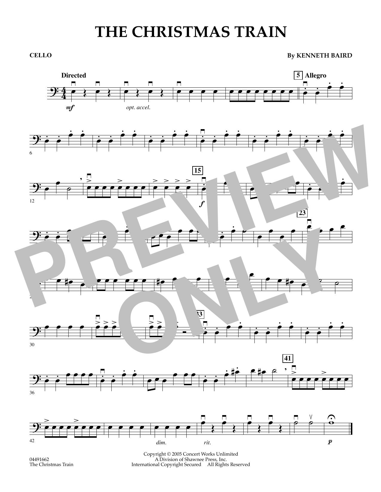 The Christmas Train - Cello (Orchestra)