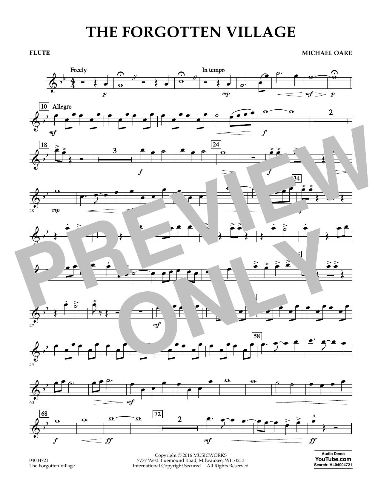 The Forgotten Village - Flute (Concert Band)