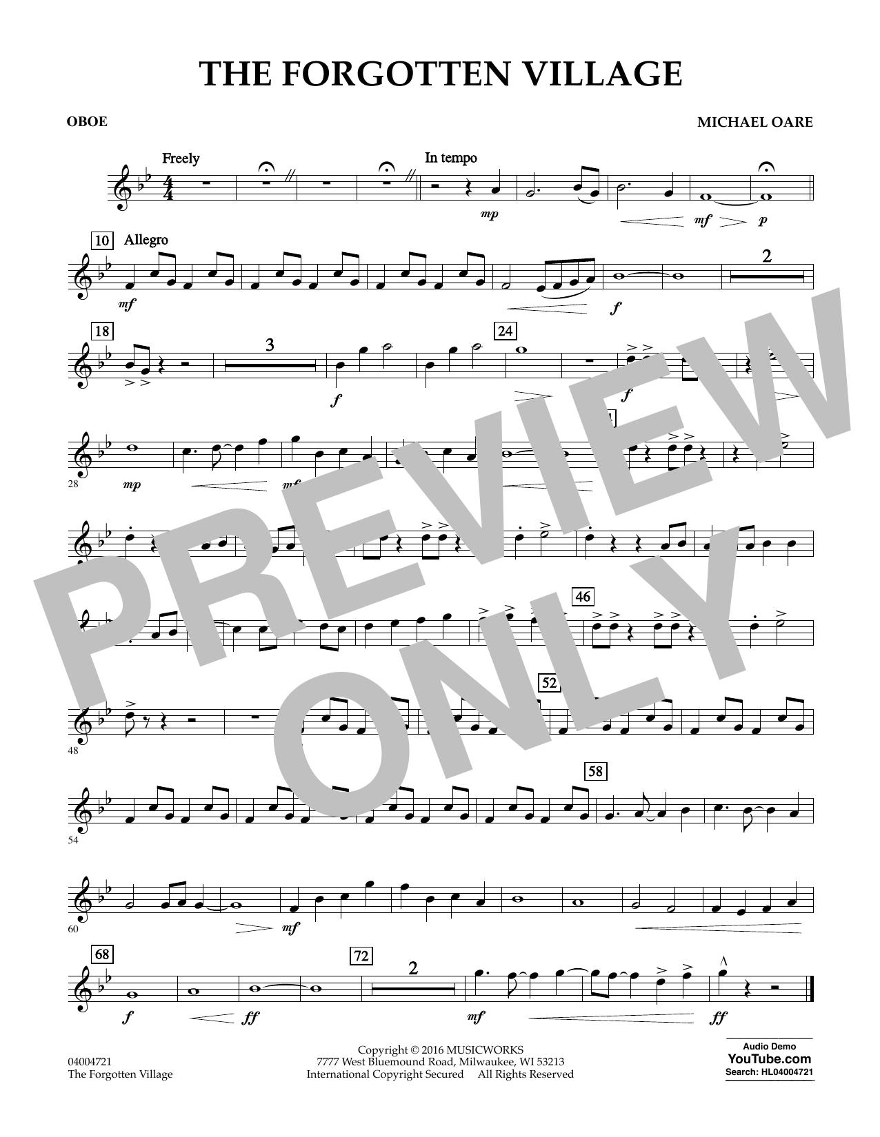 The Forgotten Village - Oboe (Concert Band)