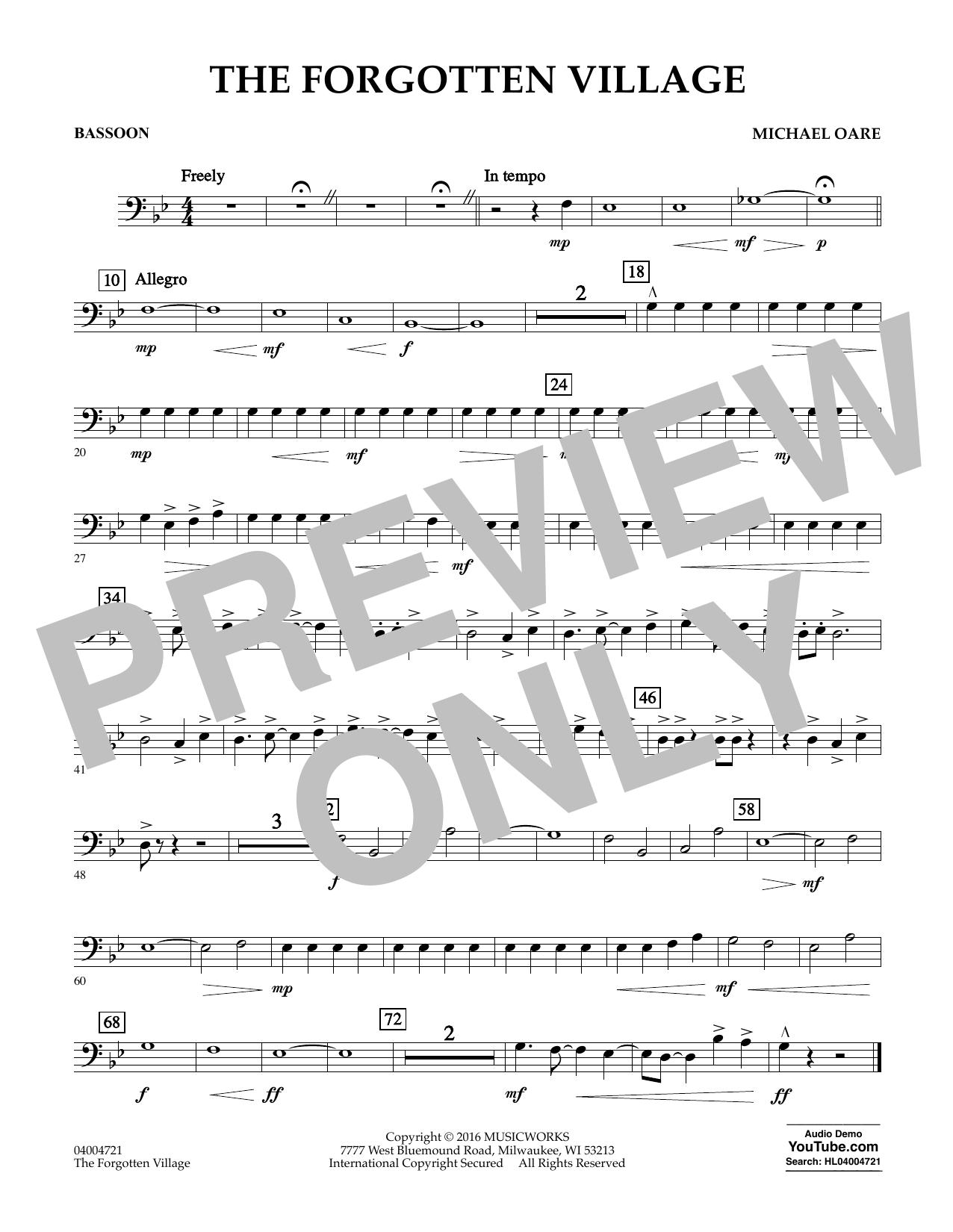The Forgotten Village - Bassoon (Concert Band)