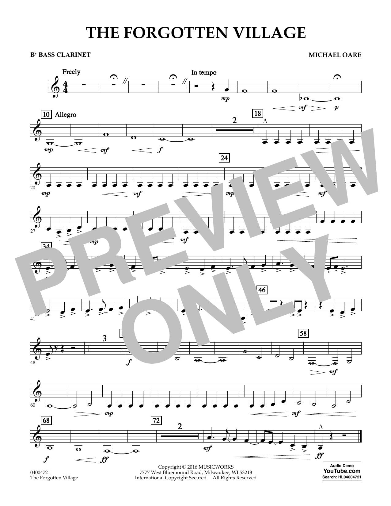 The Forgotten Village - Bb Bass Clarinet (Concert Band)