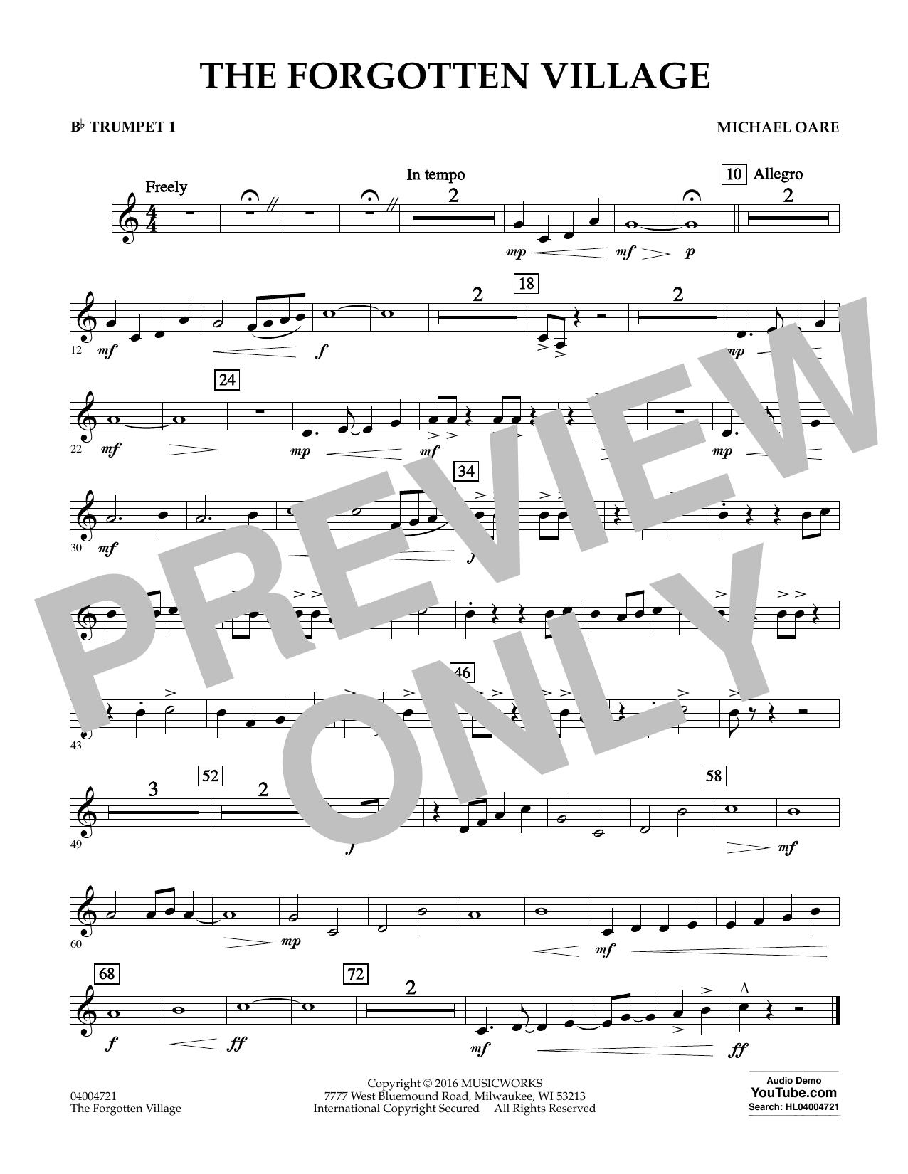 The Forgotten Village - Bb Trumpet 1 (Concert Band)