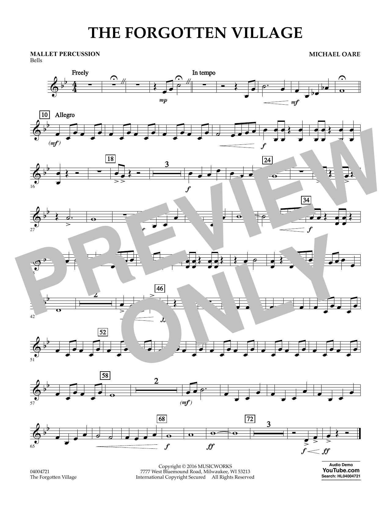 The Forgotten Village - Mallet Percussion (Concert Band)