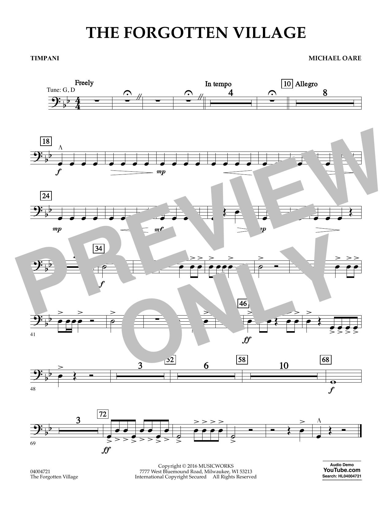 The Forgotten Village - Timpani (Concert Band)