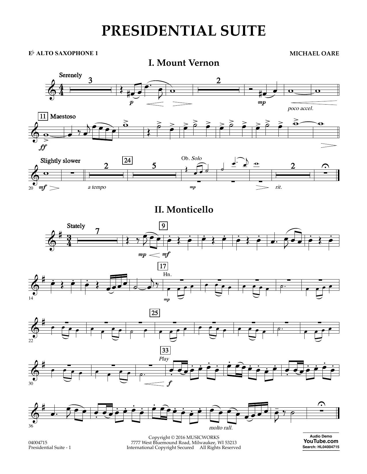 Presidential Suite - Eb Alto Saxophone 1 (Concert Band)
