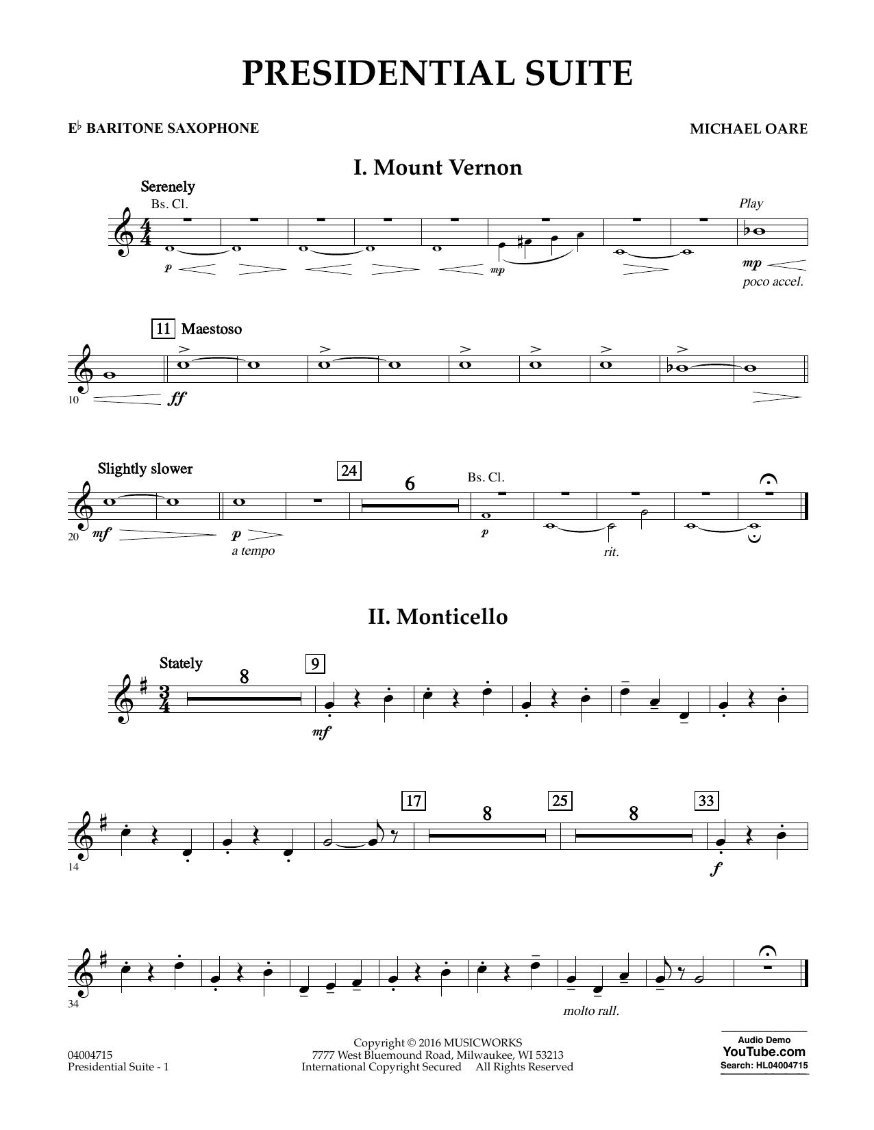 Presidential Suite - Eb Baritone Saxophone (Concert Band)