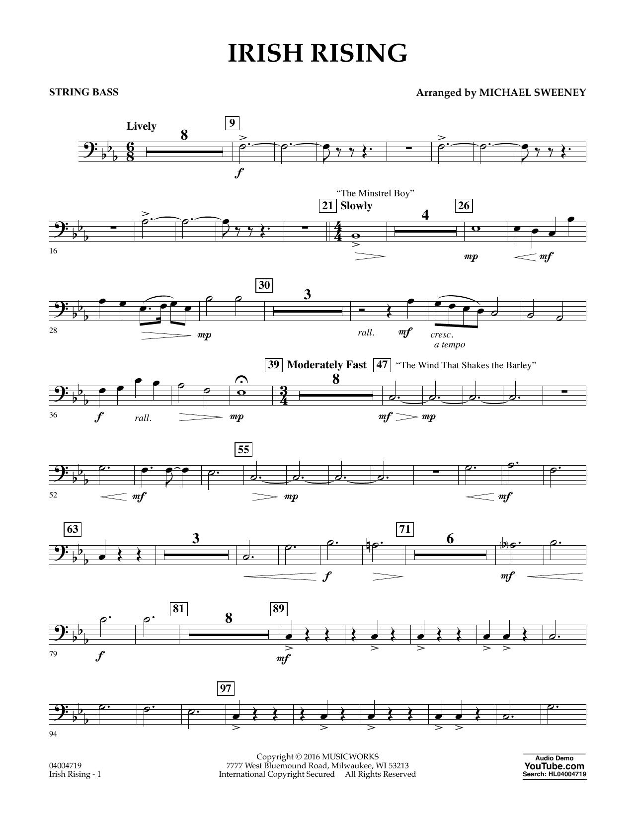 Irish Rising - String Bass (Concert Band)