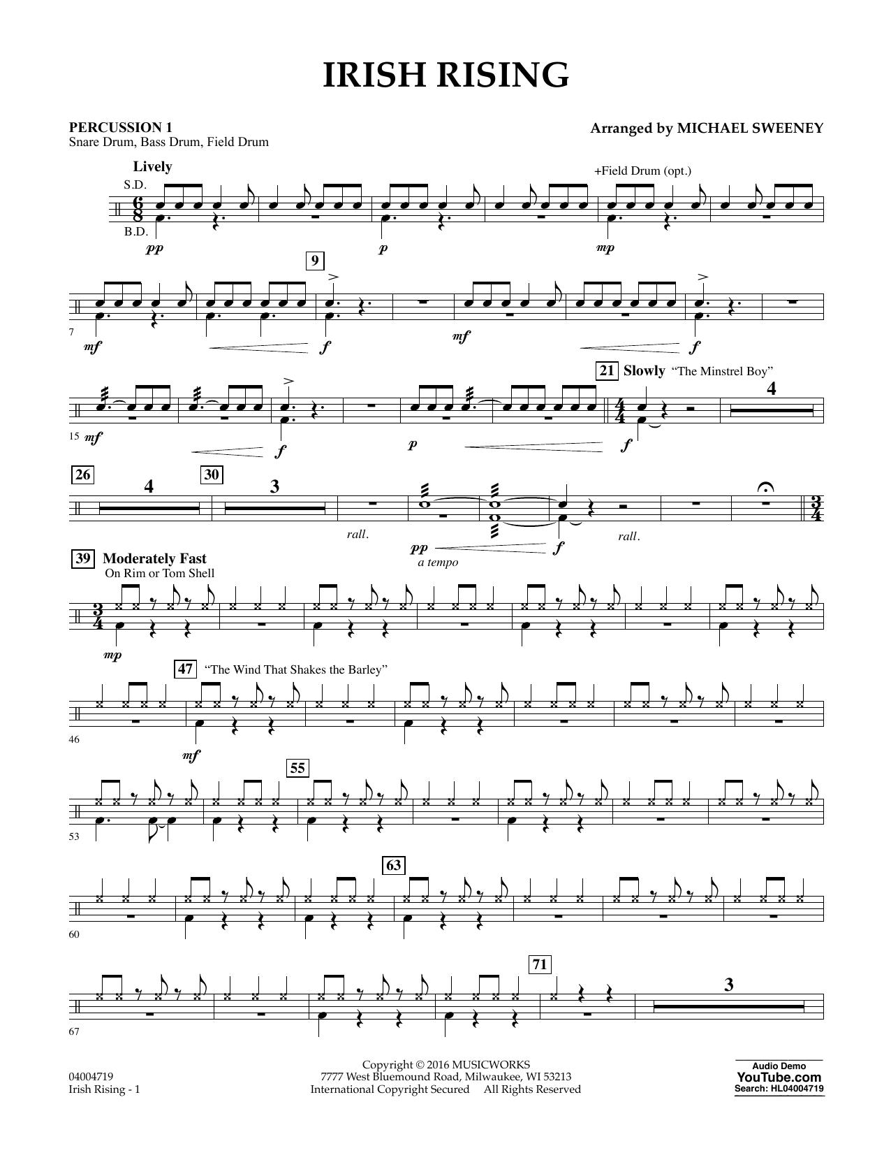 Irish Rising - Percussion 1 (Concert Band)