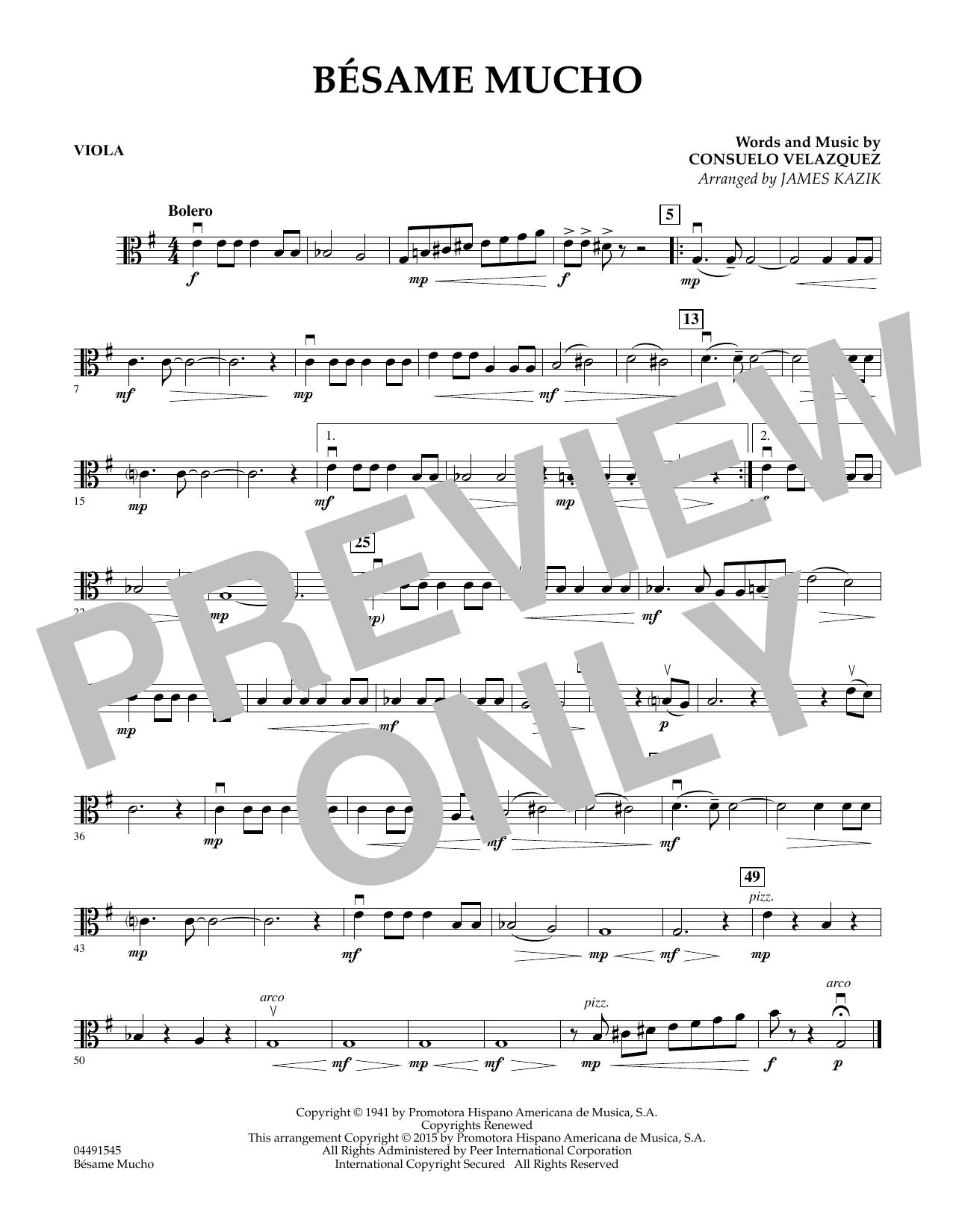 Besame Mucho - Viola (Orchestra)