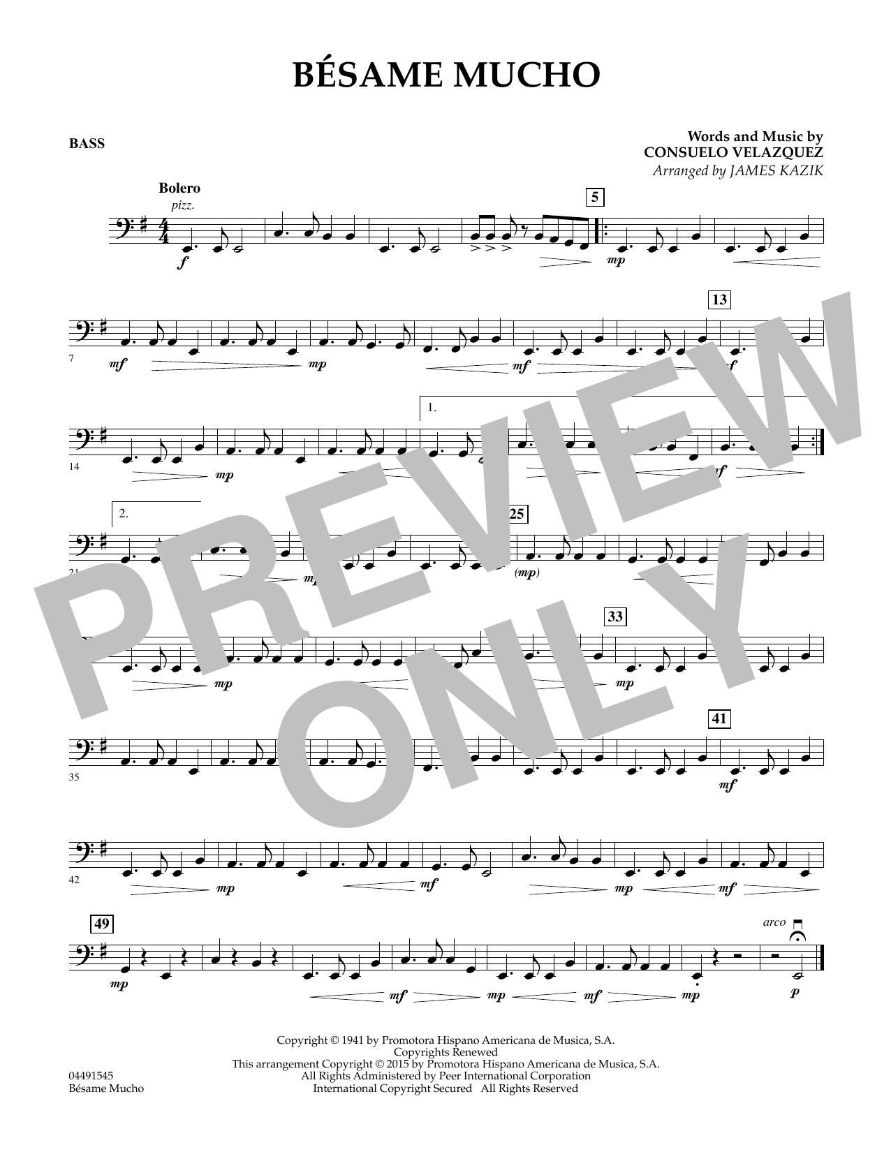 Besame Mucho - String Bass (Orchestra)