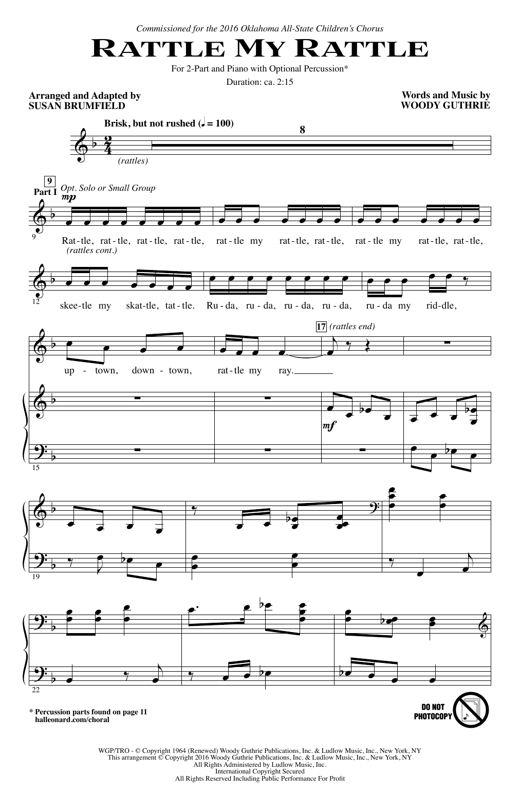 Rattle My Rattle Sheet Music