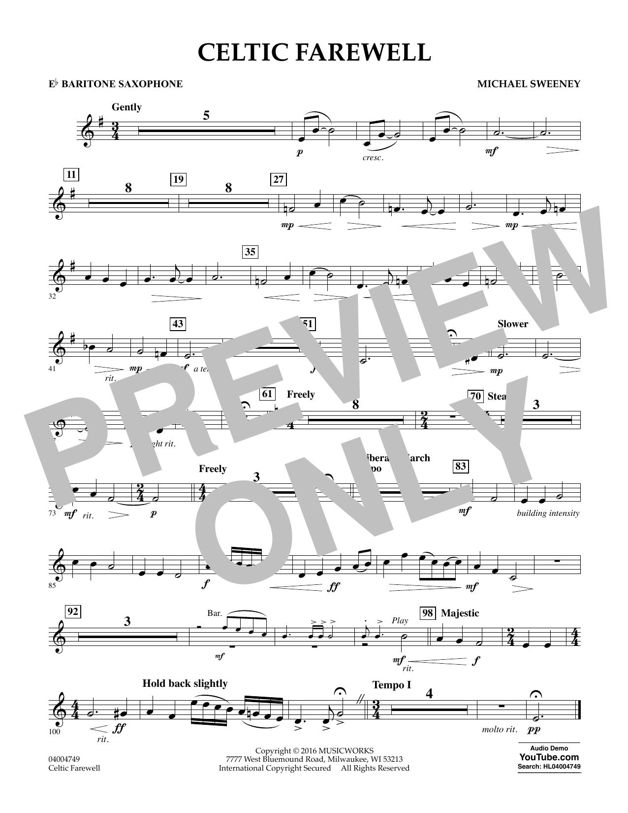 Celtic Farewell - Eb Baritone Saxophone (Concert Band)