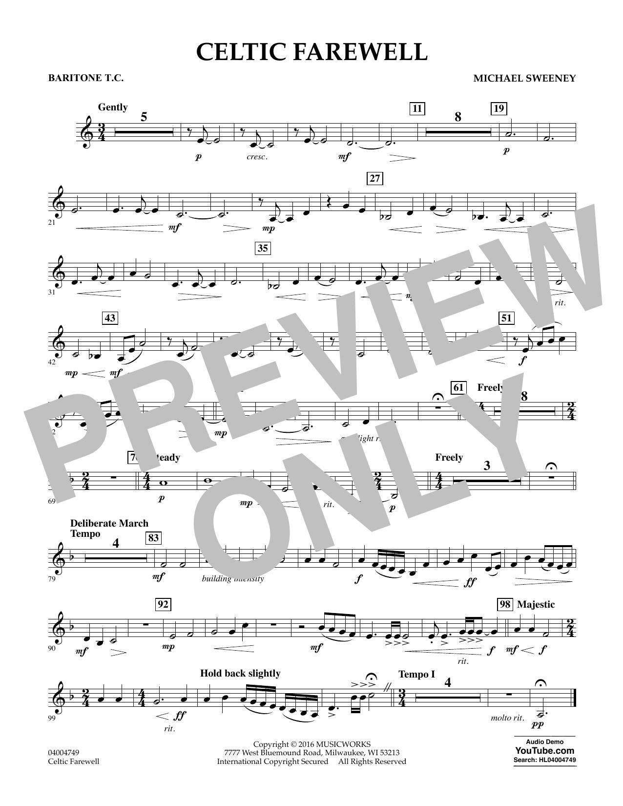 Celtic Farewell - Baritone T.C. (Concert Band)