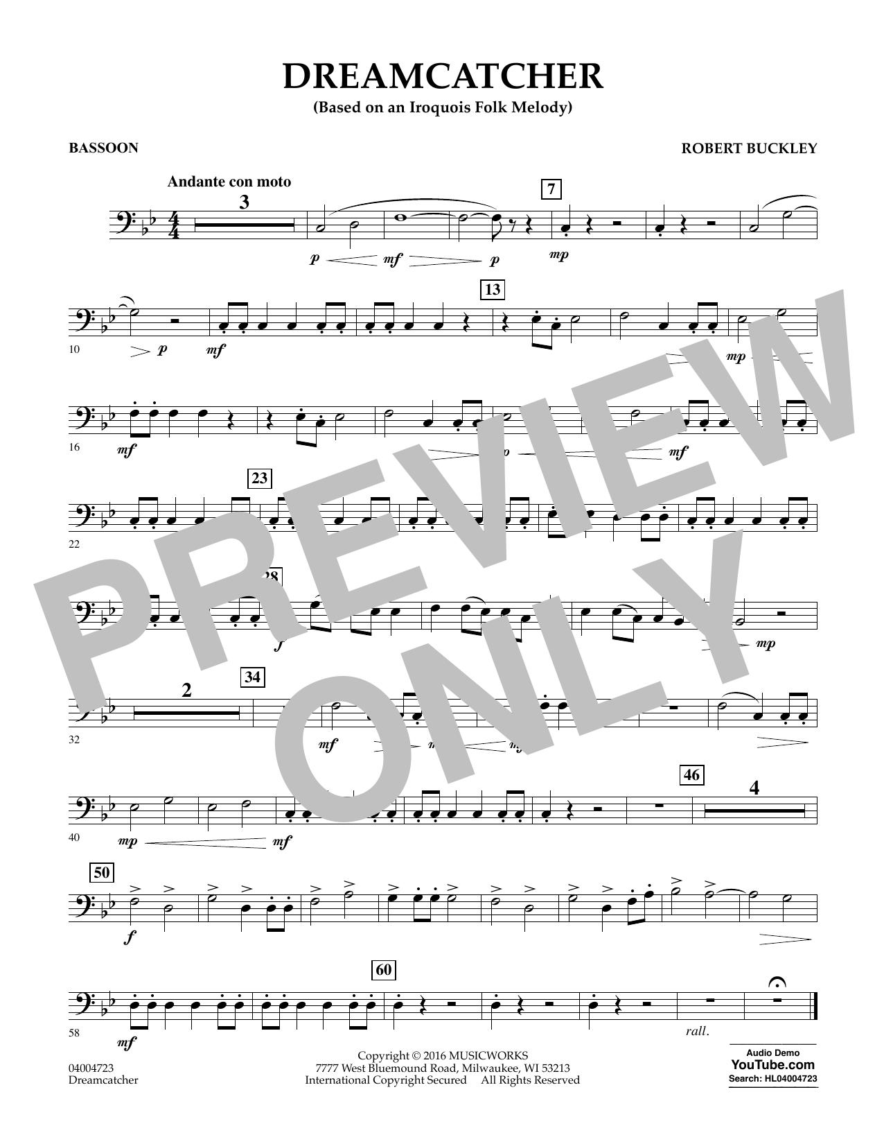 Dreamcatcher - Bassoon (Concert Band)