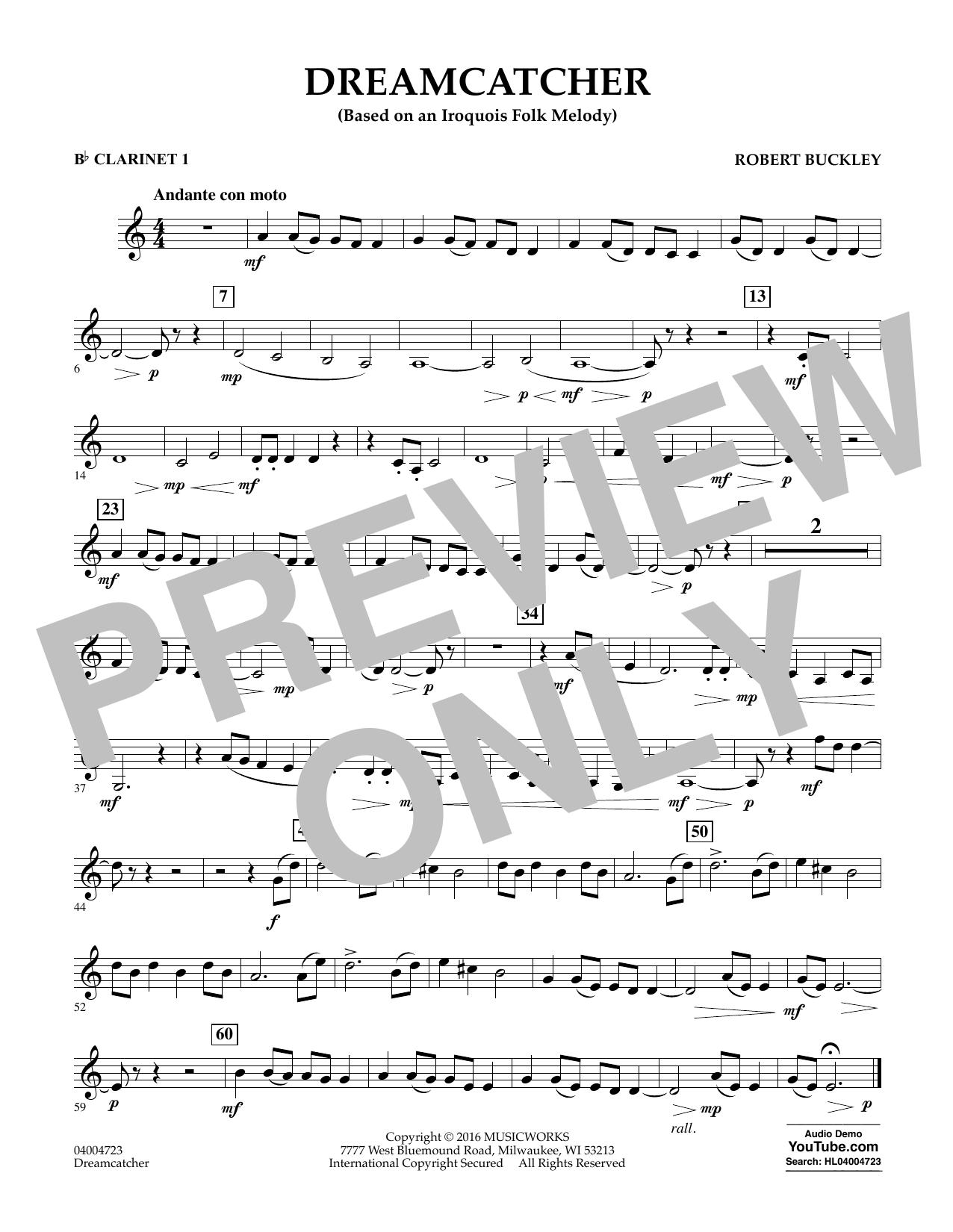 Dreamcatcher - Bb Clarinet 1 (Concert Band)