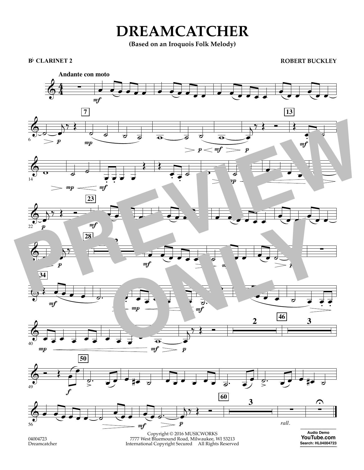 Dreamcatcher - Bb Clarinet 2 (Concert Band)