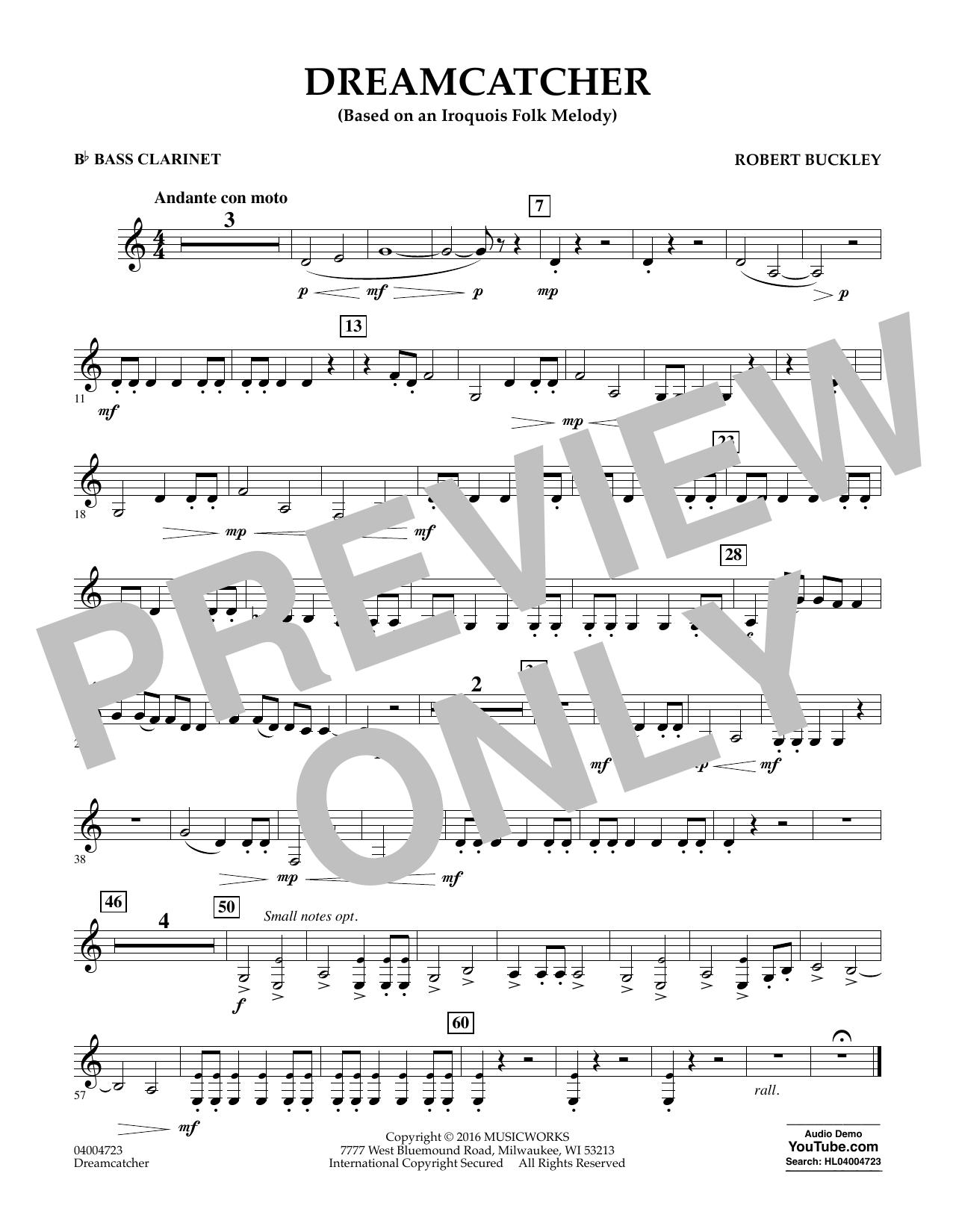 Dreamcatcher - Bb Bass Clarinet (Concert Band)
