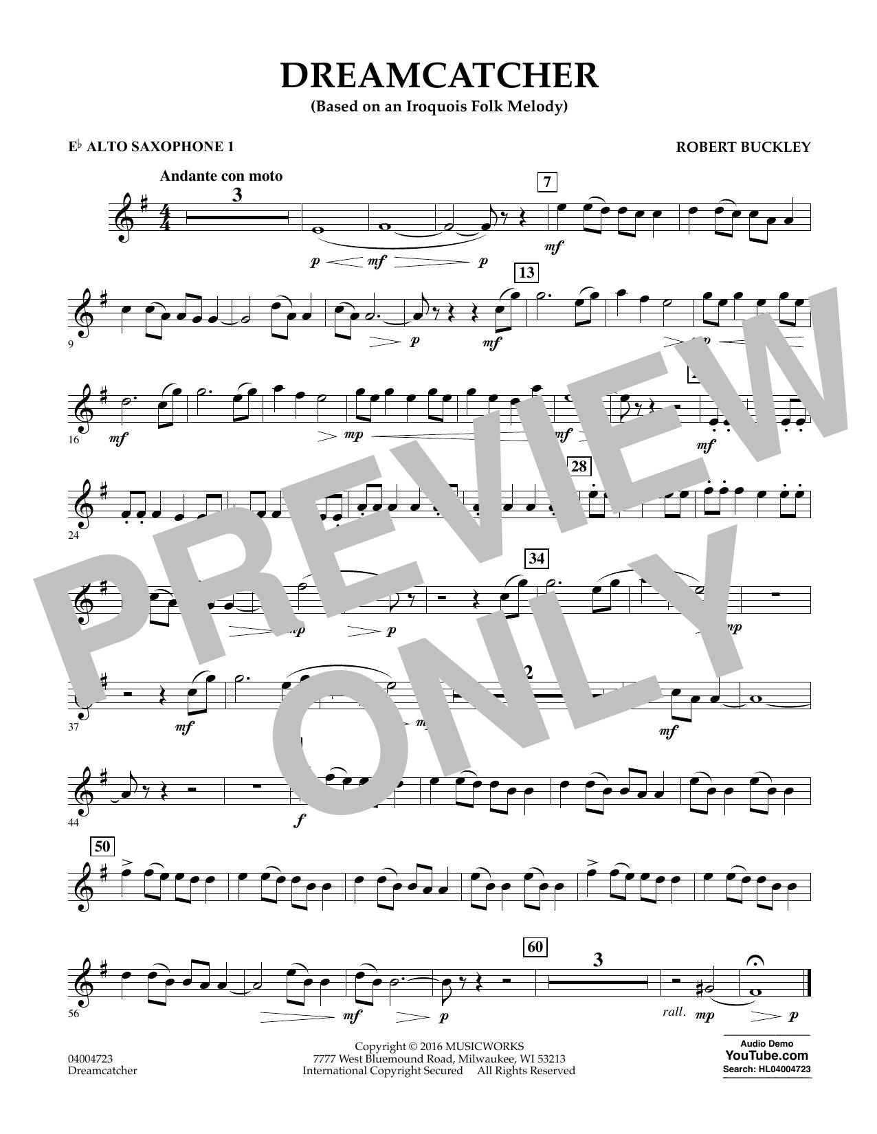 Dreamcatcher - Eb Alto Saxophone 1 (Concert Band)