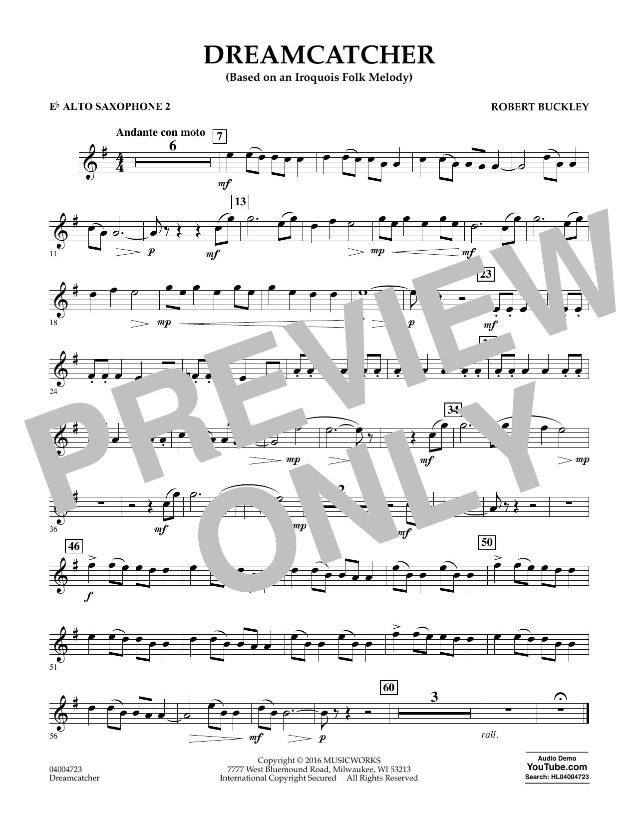 Dreamcatcher - Eb Alto Saxophone 2 (Concert Band)