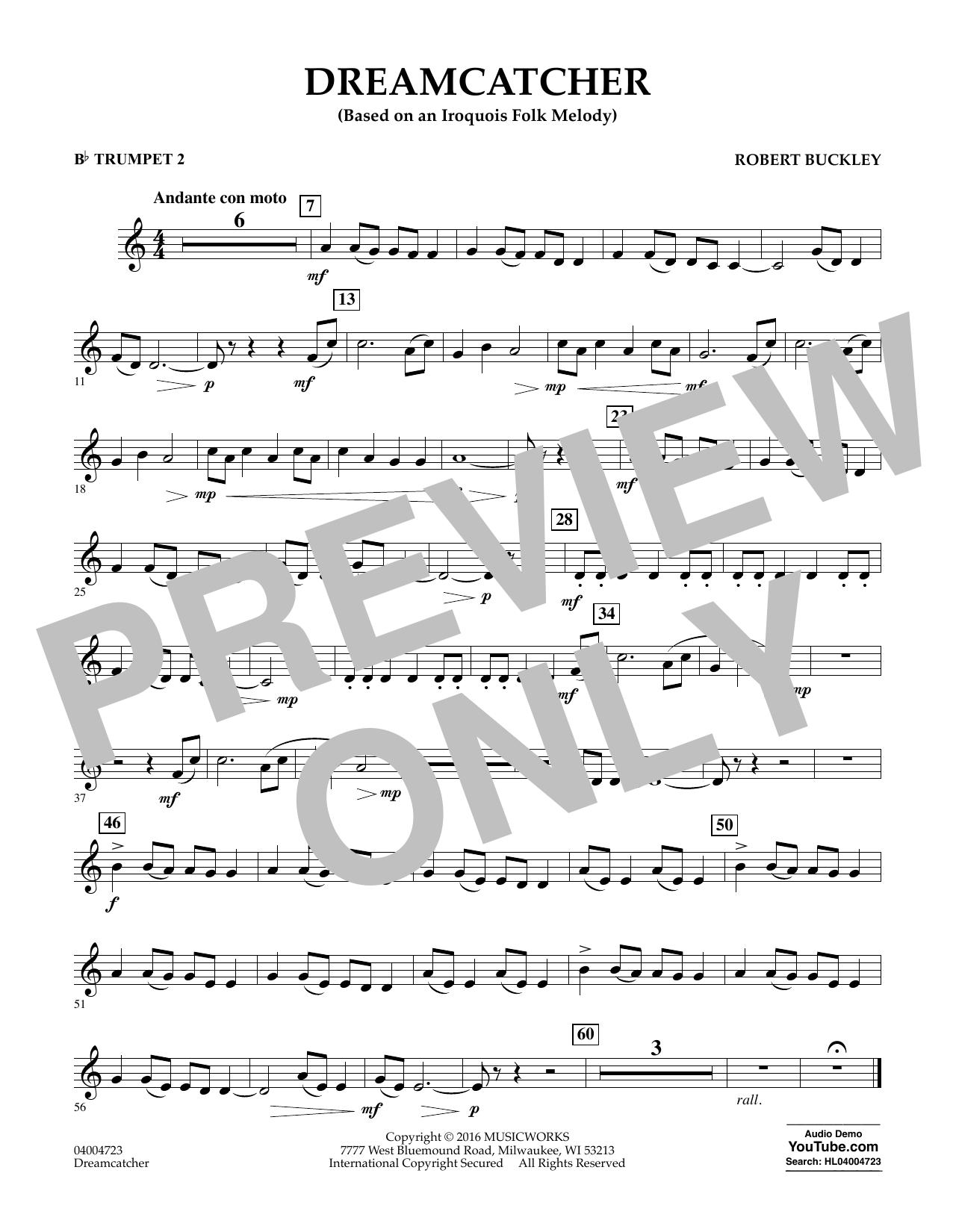 Dreamcatcher - Bb Trumpet 2 (Concert Band)
