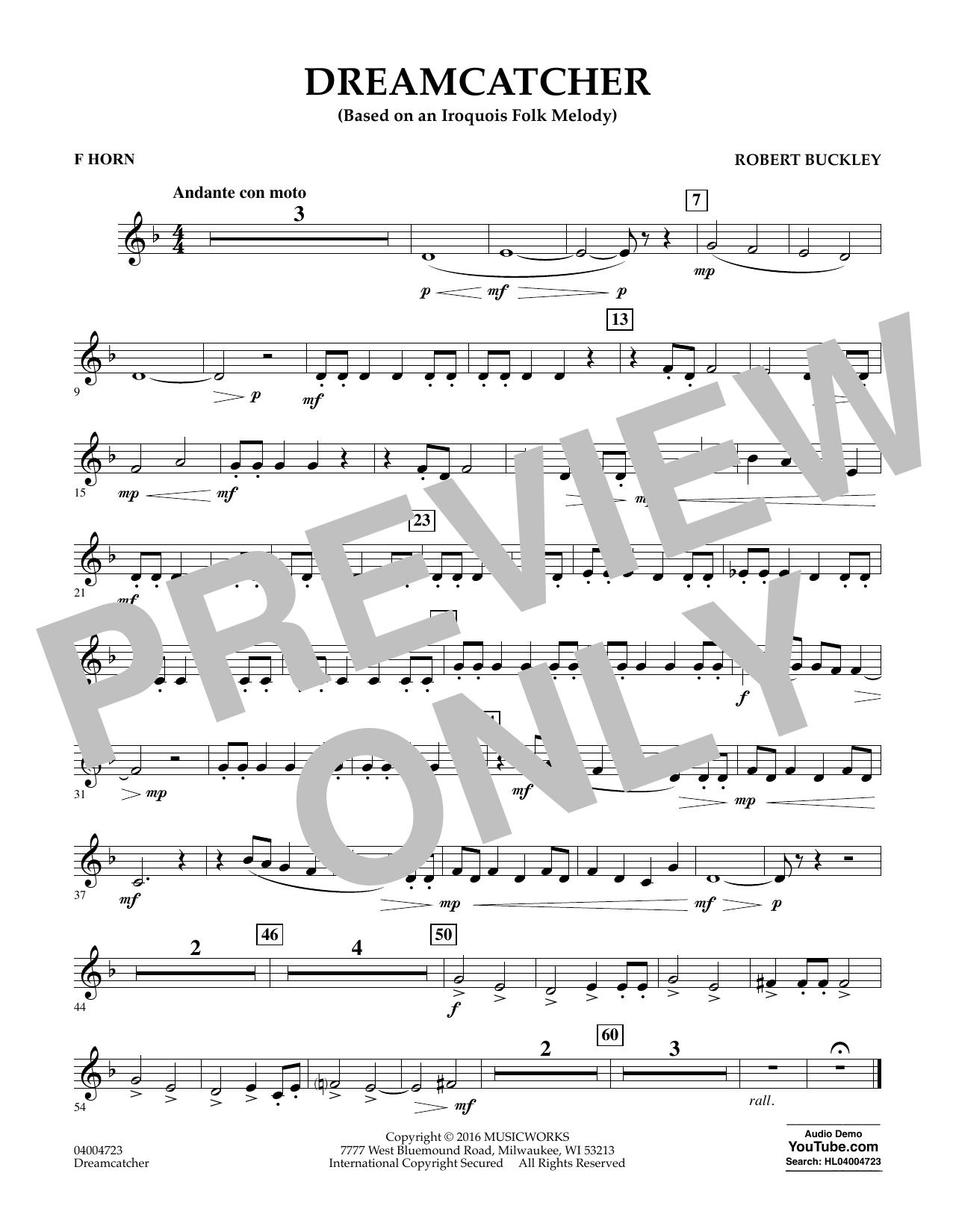 Dreamcatcher - F Horn (Concert Band)
