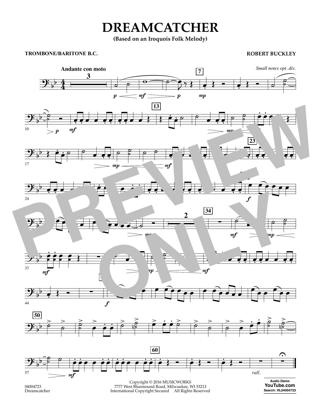 Dreamcatcher - Trombone/Baritone B.C. (Concert Band)