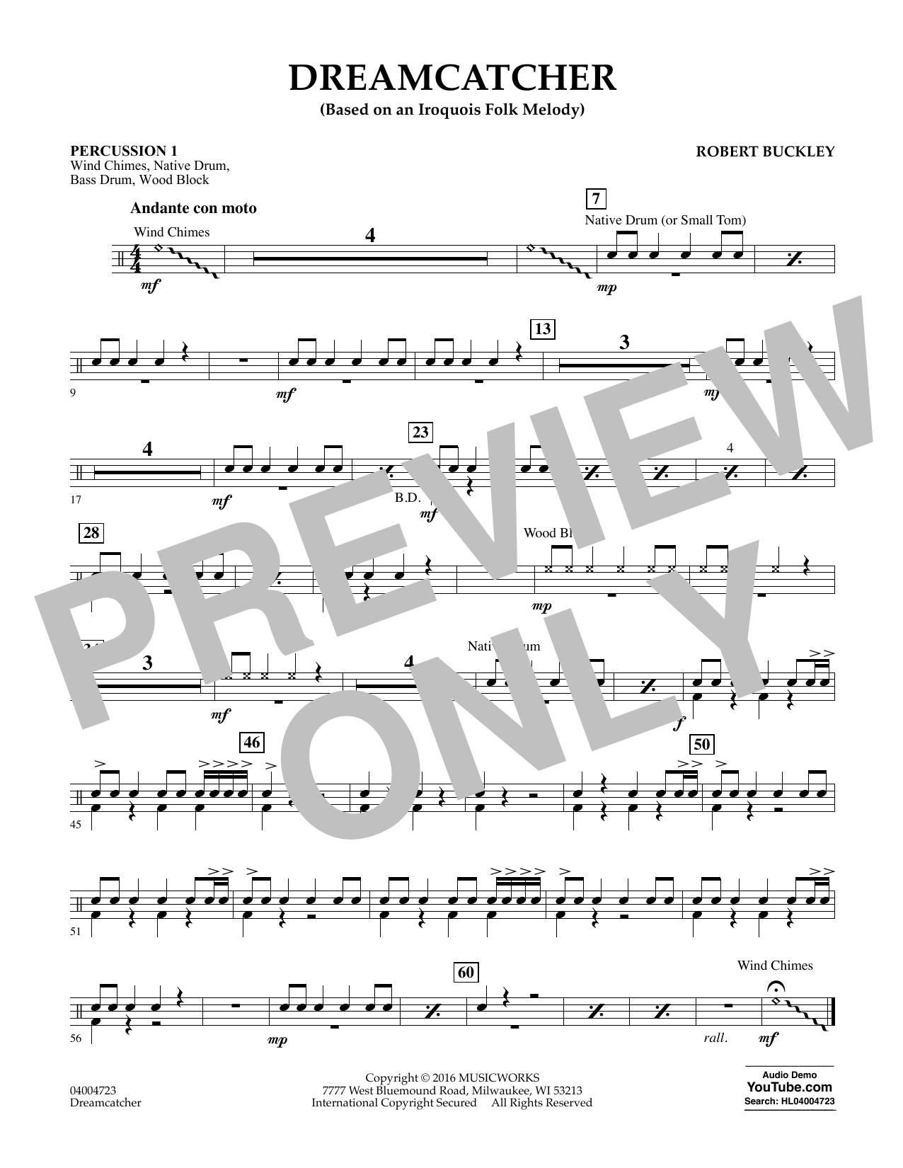 Dreamcatcher - Percussion 1 (Concert Band)