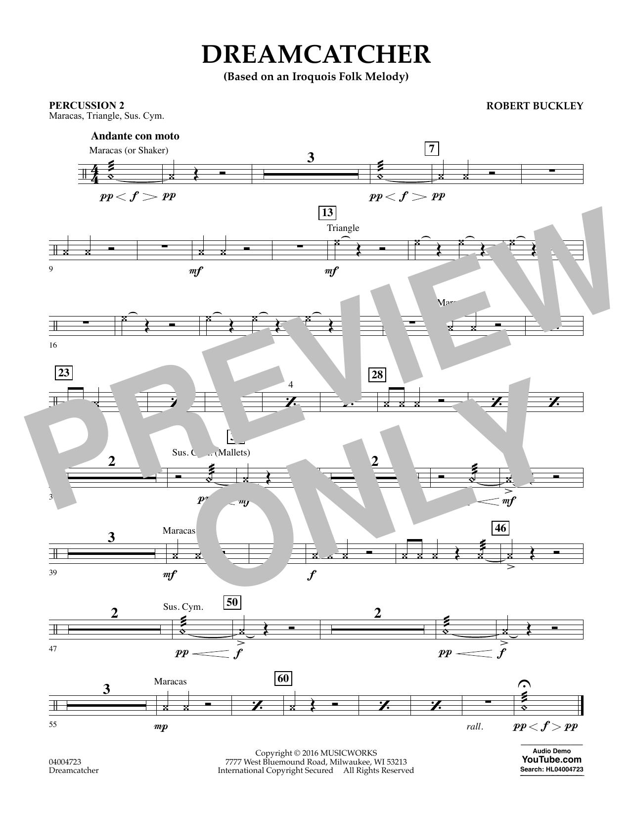 Dreamcatcher - Percussion 2 (Concert Band)