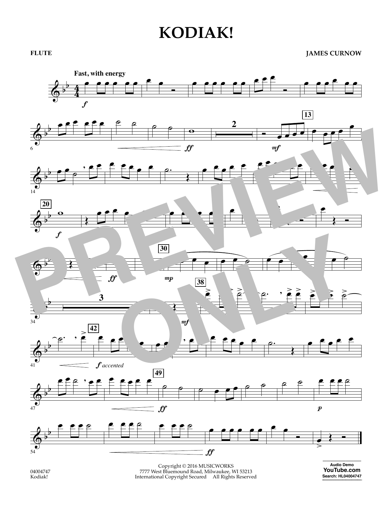 Kodiak! - Flute (Concert Band)