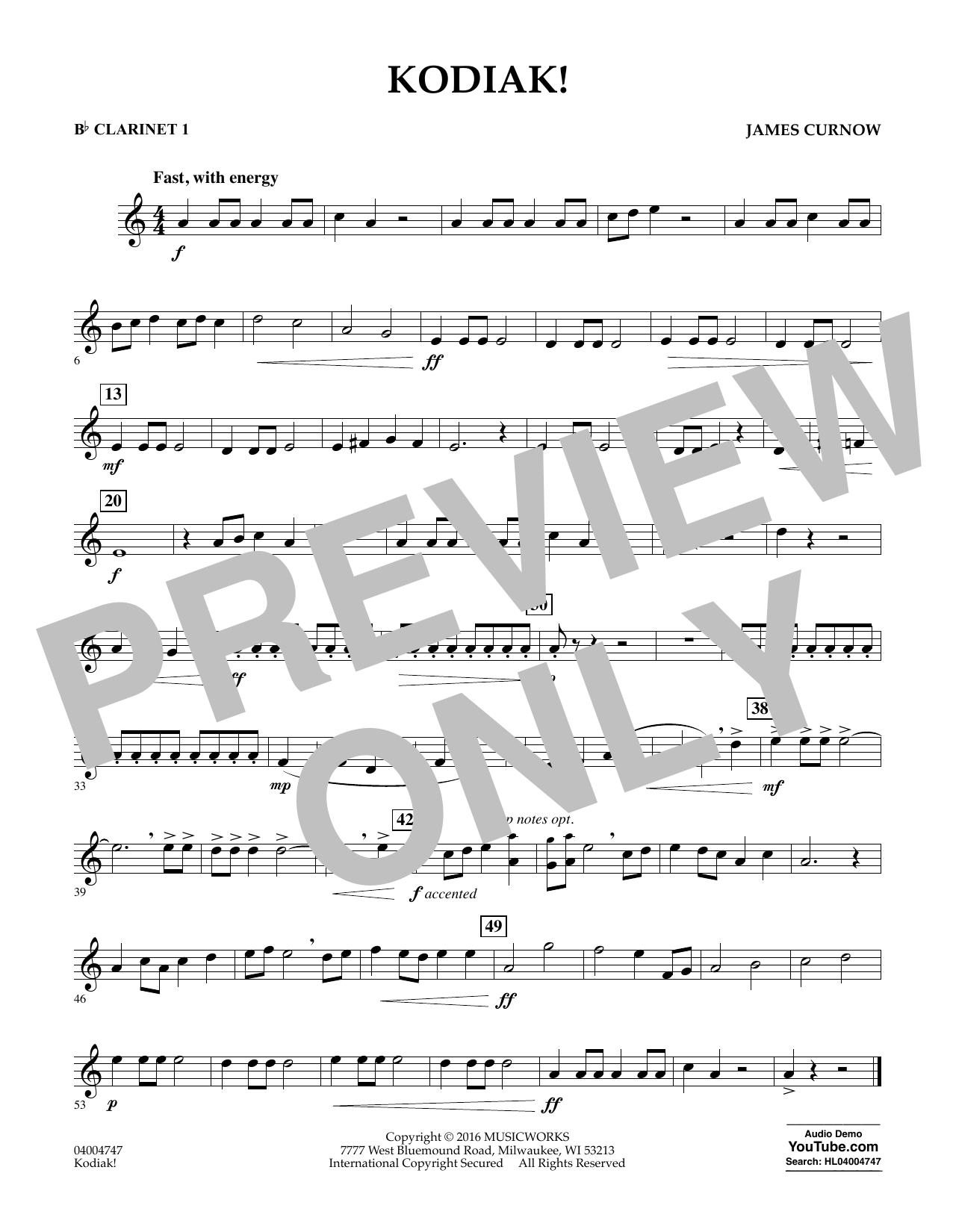 Kodiak! - Bb Clarinet 1 (Concert Band)