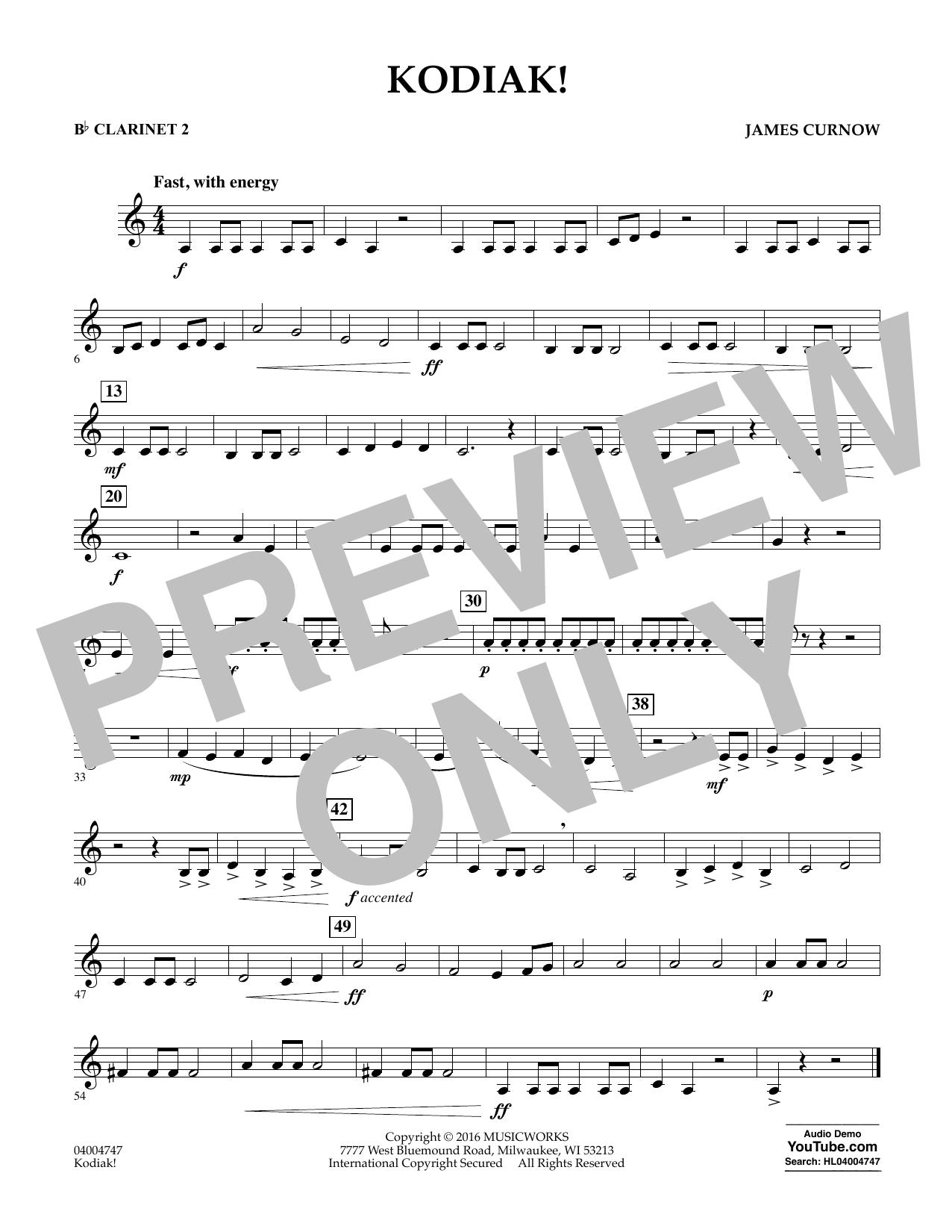 Kodiak! - Bb Clarinet 2 (Concert Band)