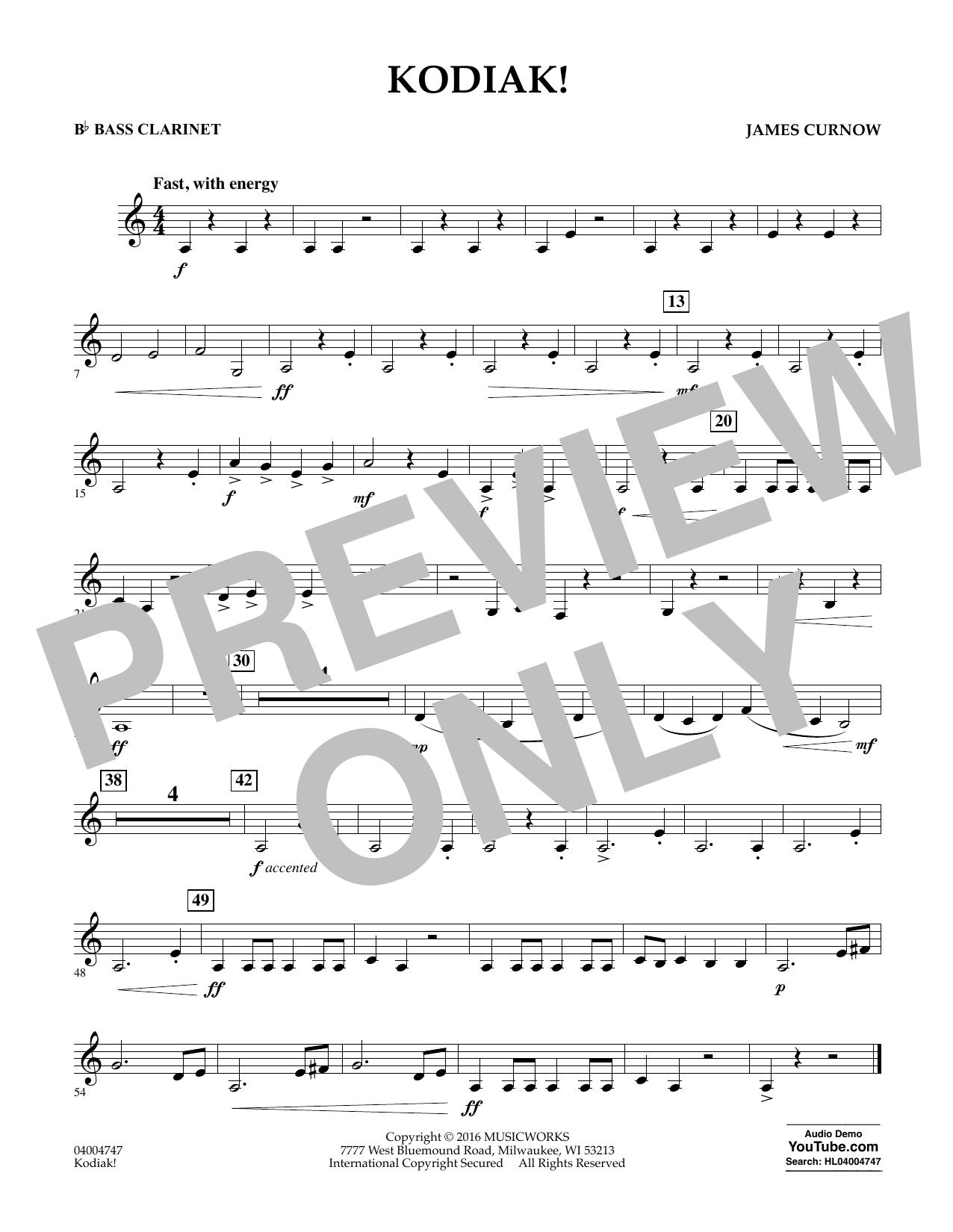 Kodiak! - Bb Bass Clarinet (Concert Band)
