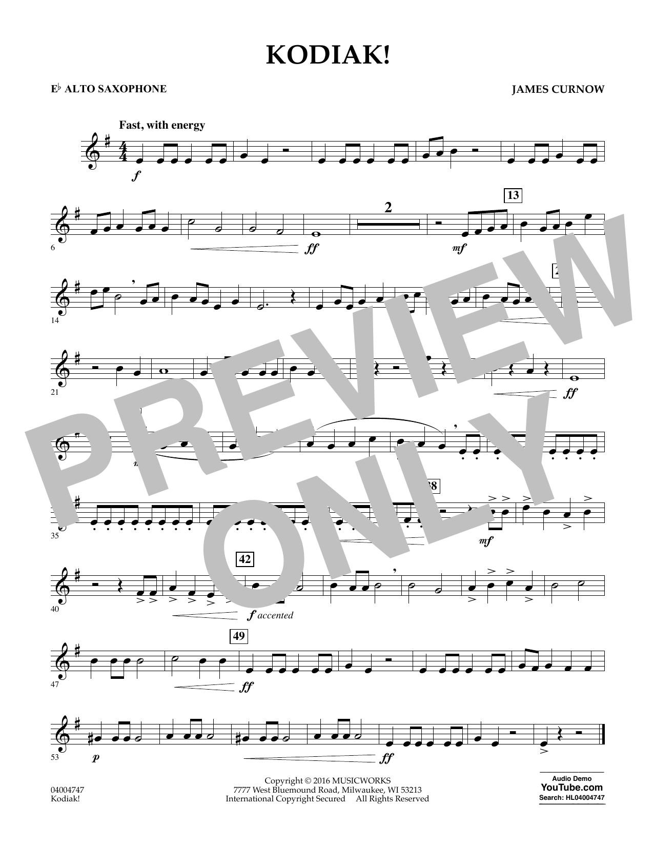 Kodiak! - Eb Alto Saxophone (Concert Band)