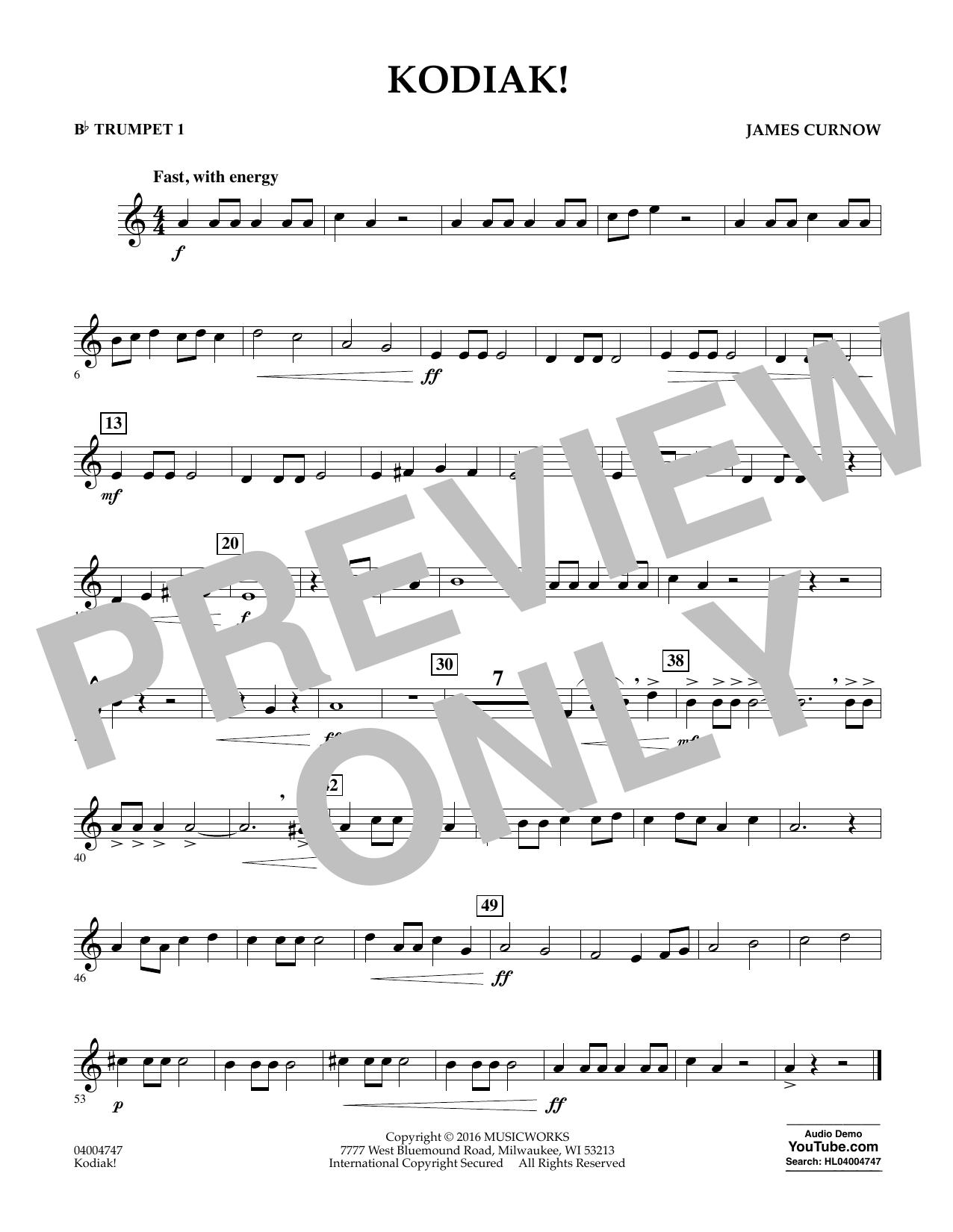 Kodiak! - Bb Trumpet 1 (Concert Band)