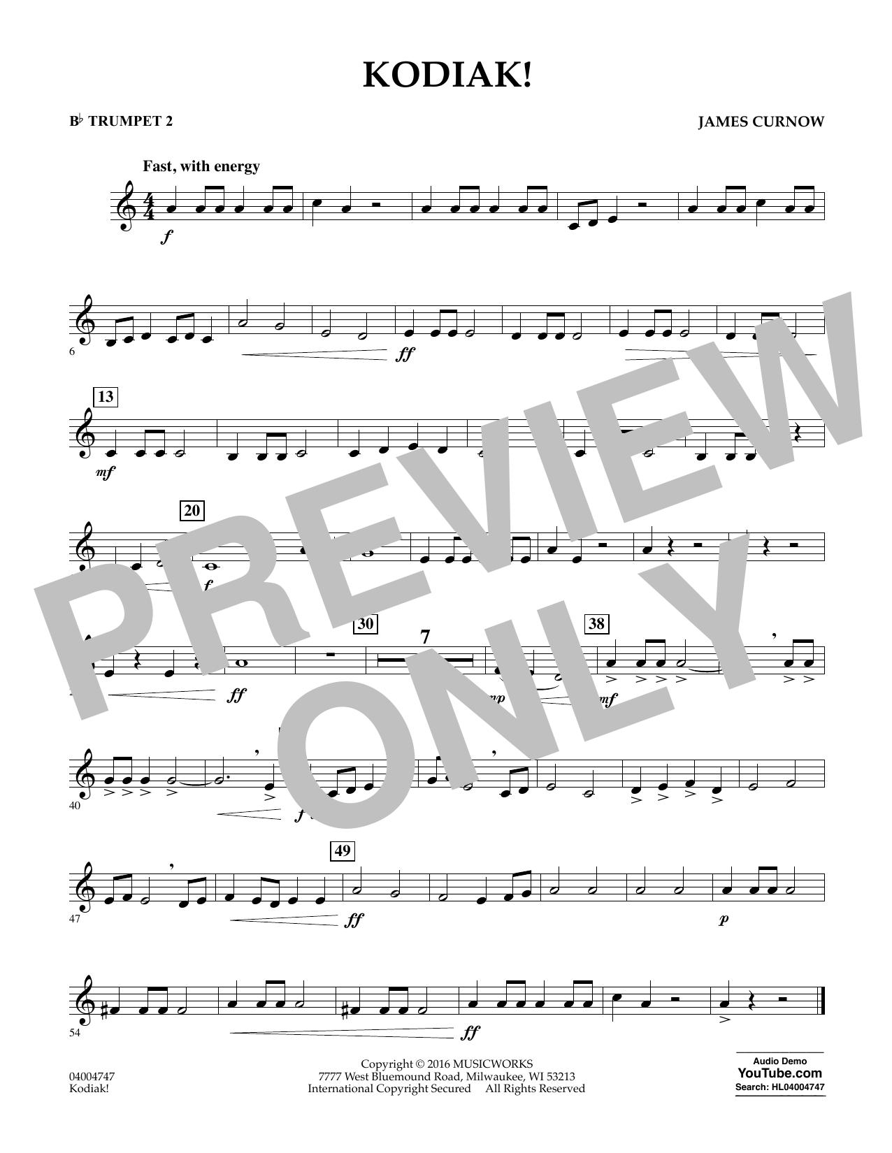 Kodiak! - Bb Trumpet 2 (Concert Band)