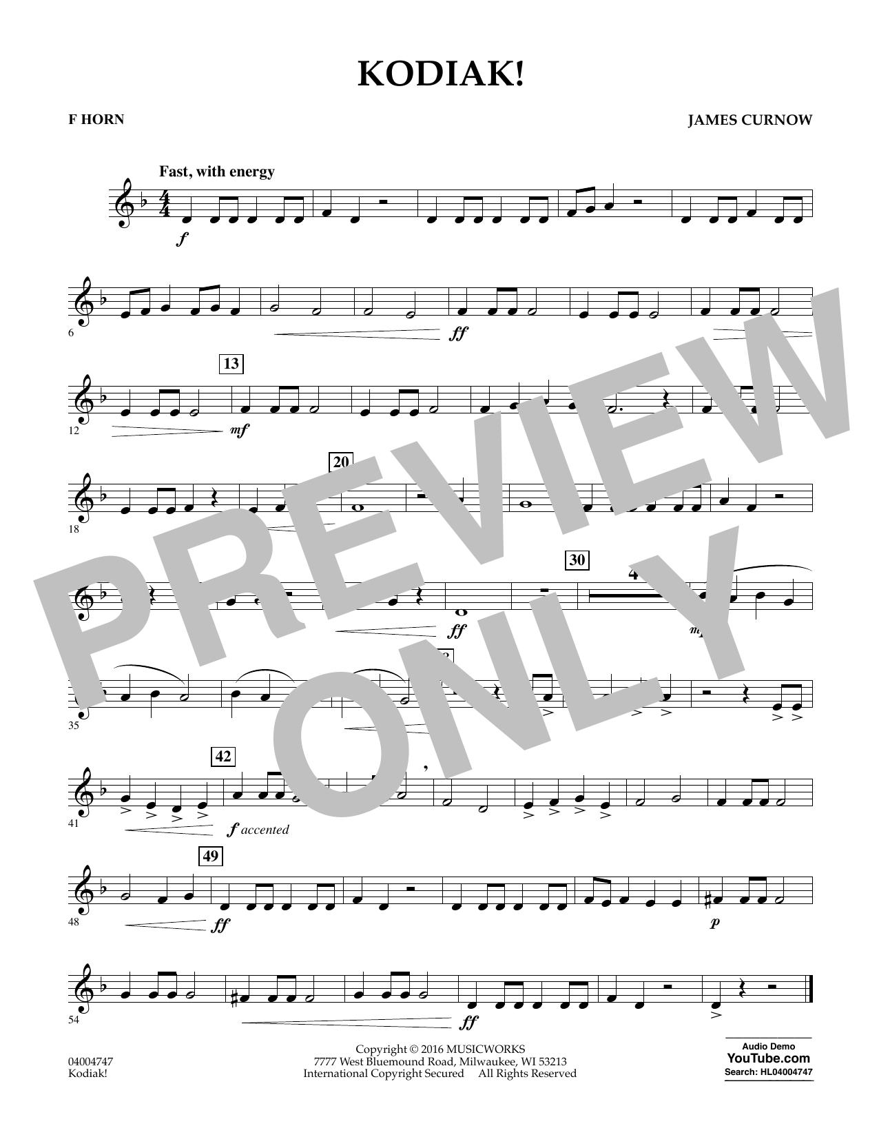 Kodiak! - F Horn (Concert Band)