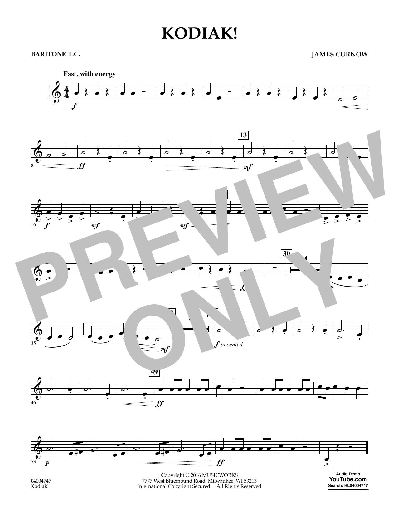 Kodiak! - Baritone T.C. (Concert Band)