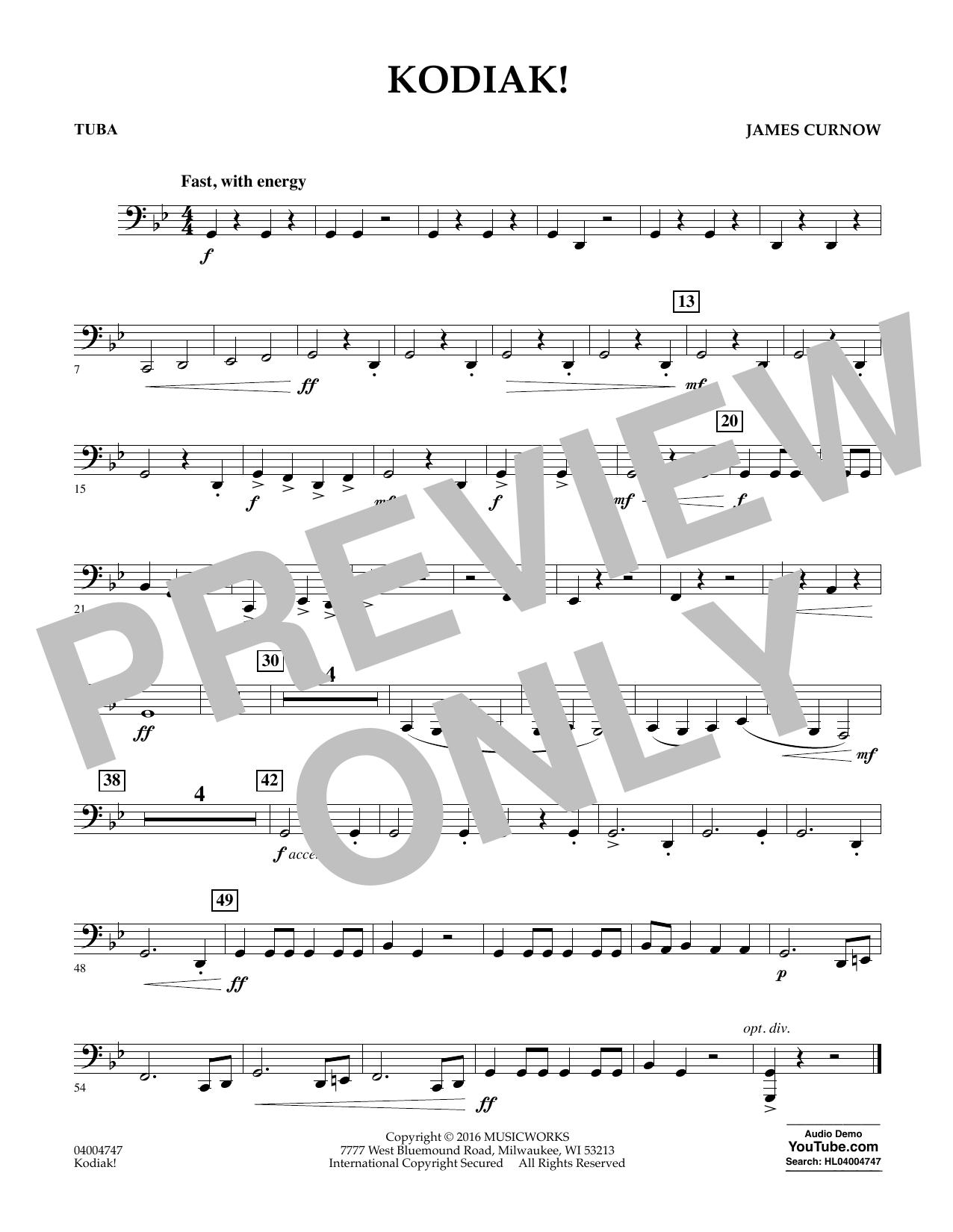 Kodiak! - Tuba (Concert Band)