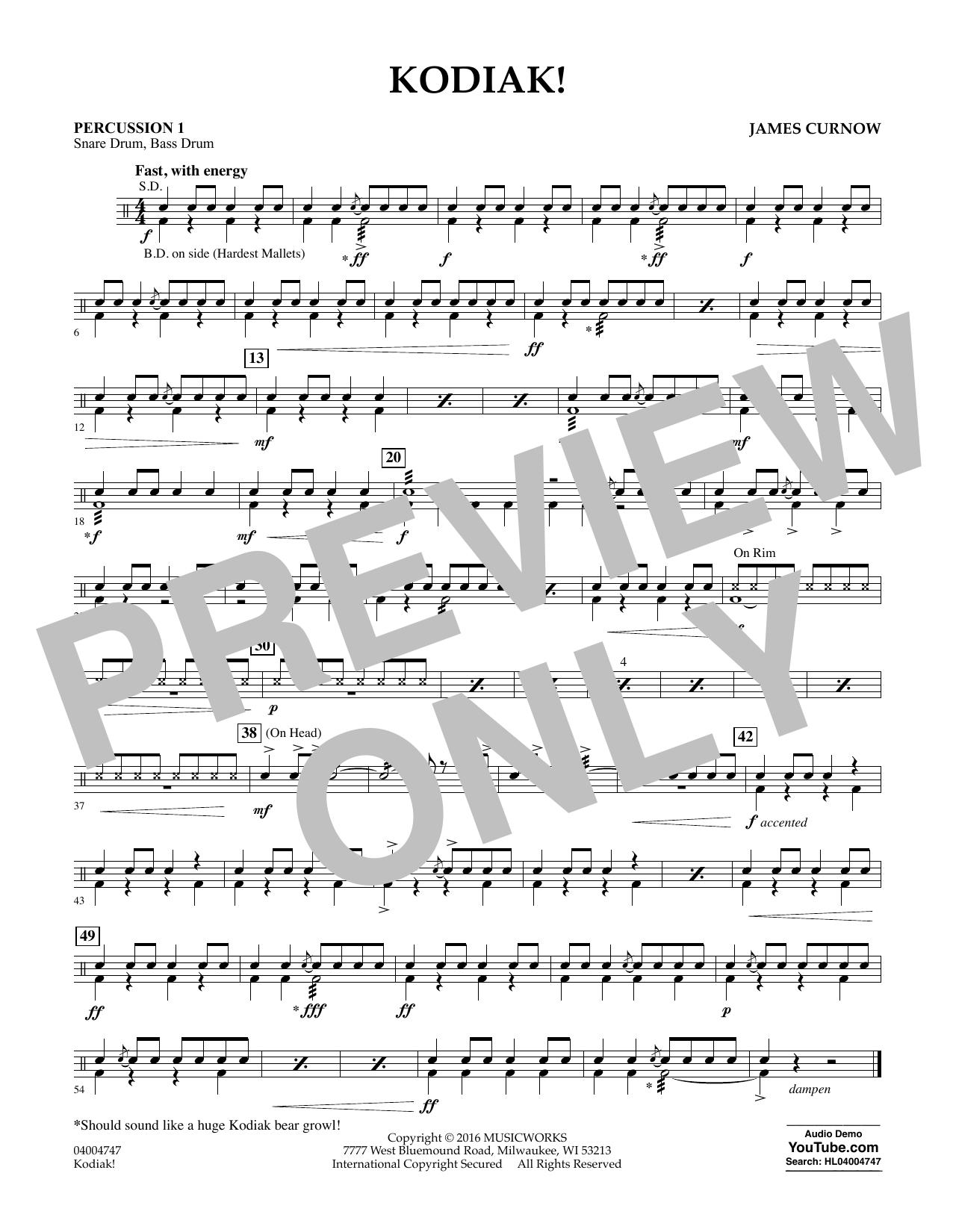 Kodiak! - Percussion 1 (Concert Band)