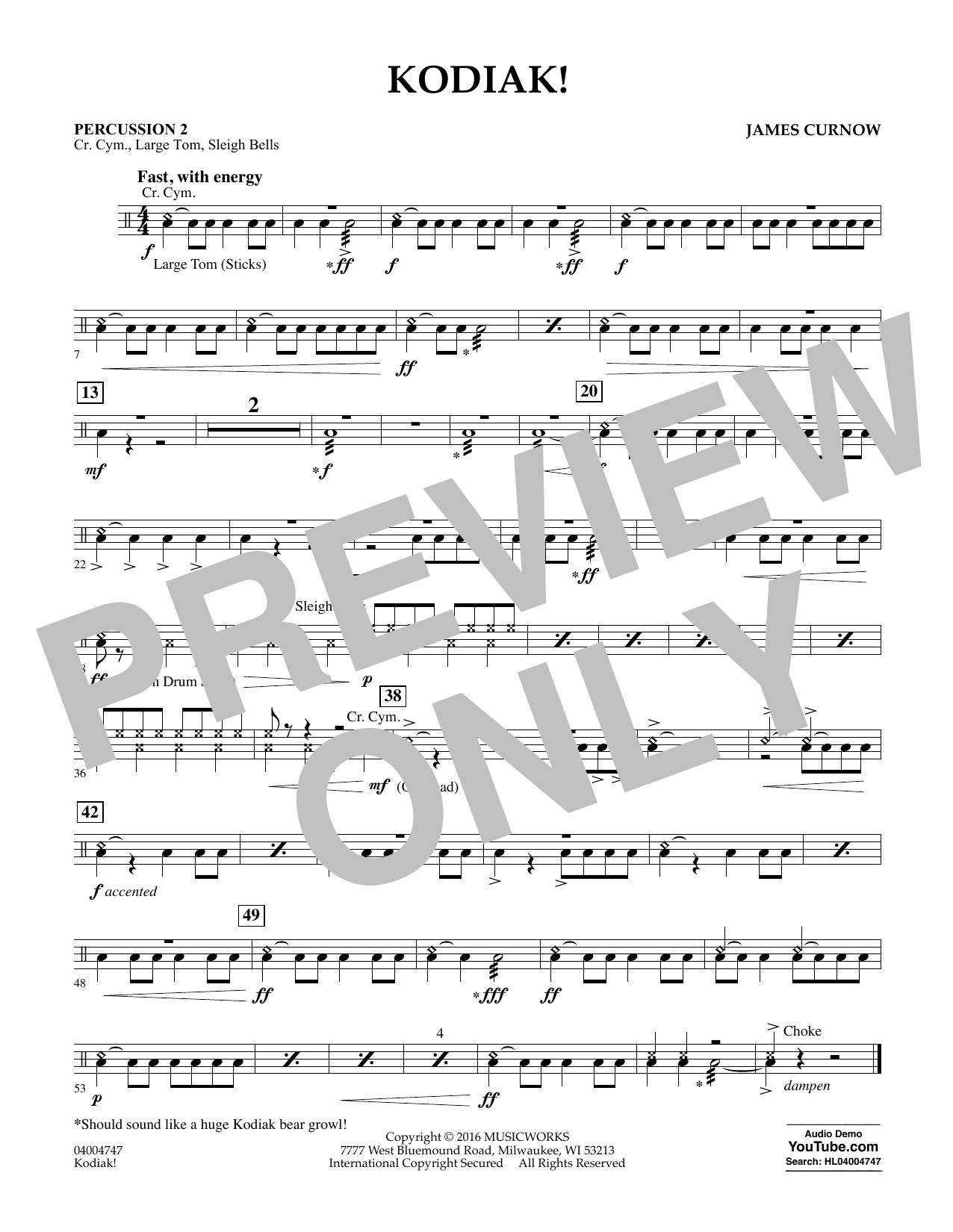 Kodiak! - Percussion 2 (Concert Band)